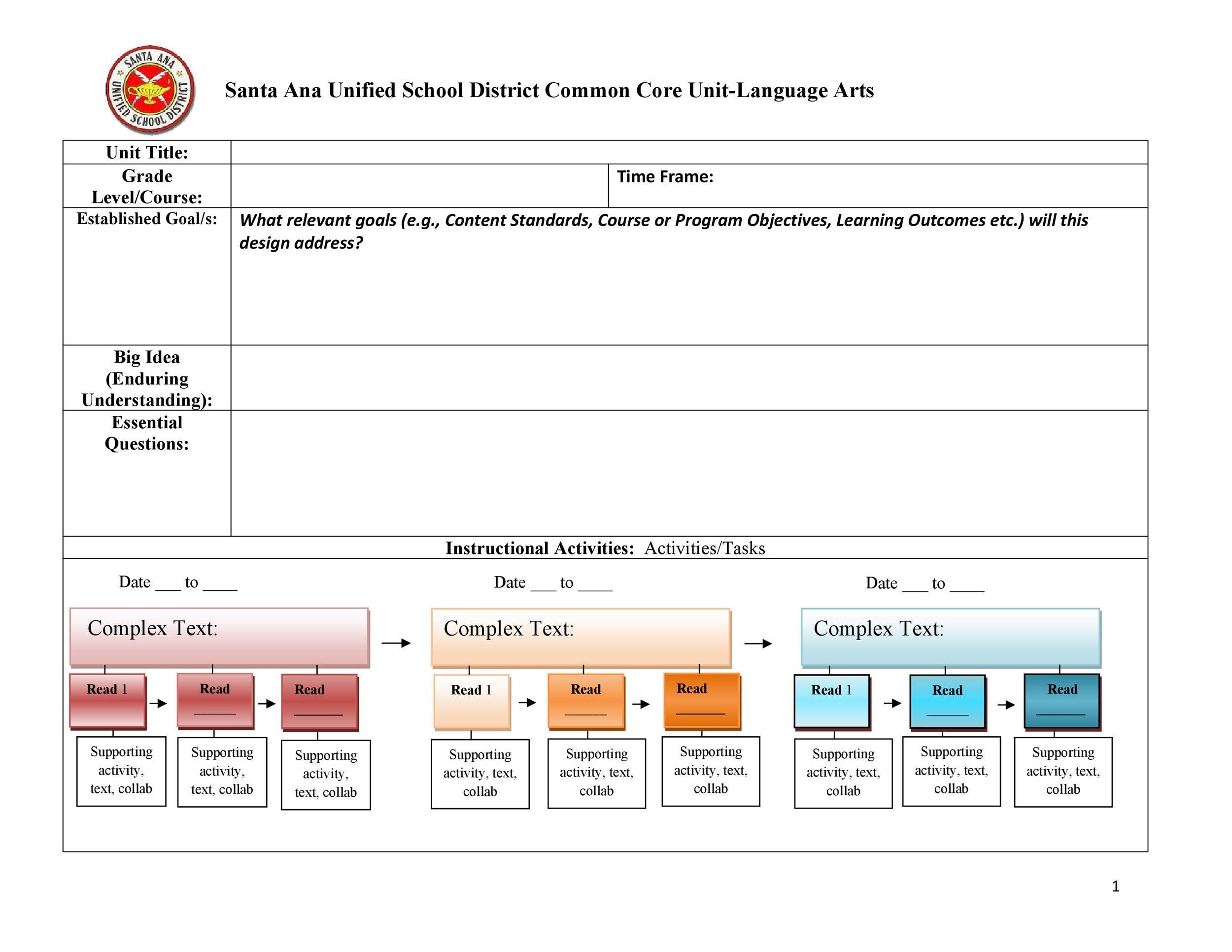 Free unit plan template 34