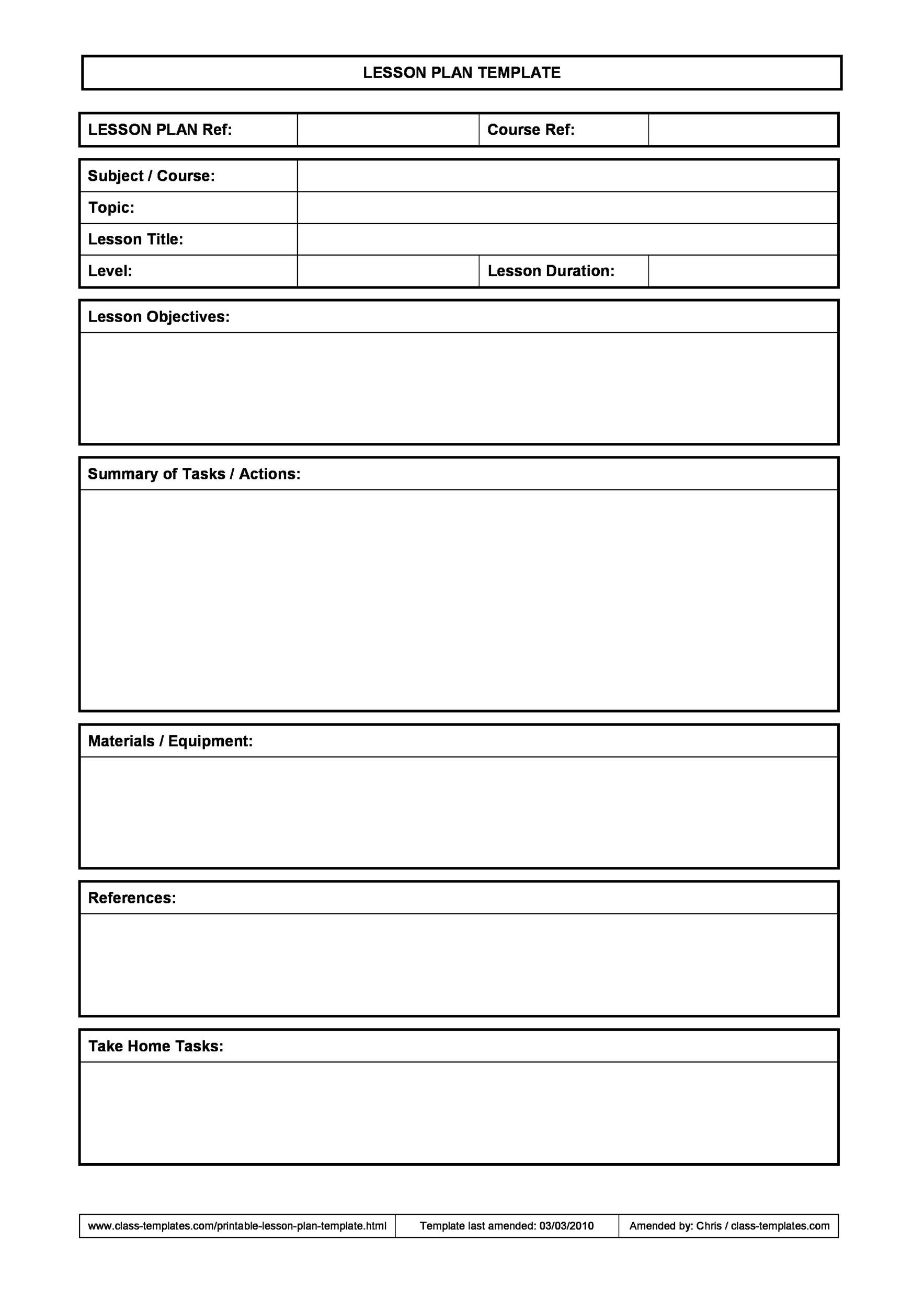Free unit plan template 37