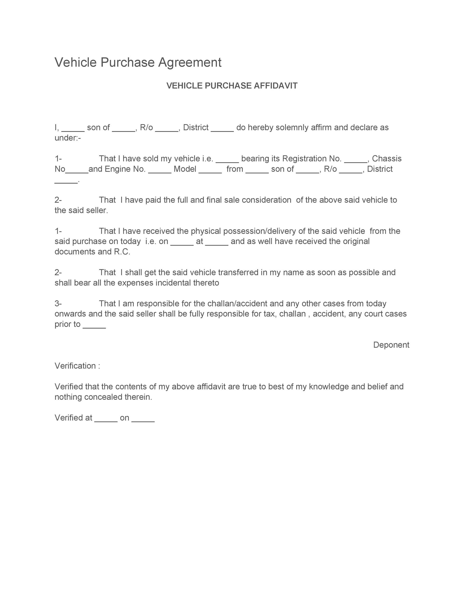 Free vehicle purchase agreement 15