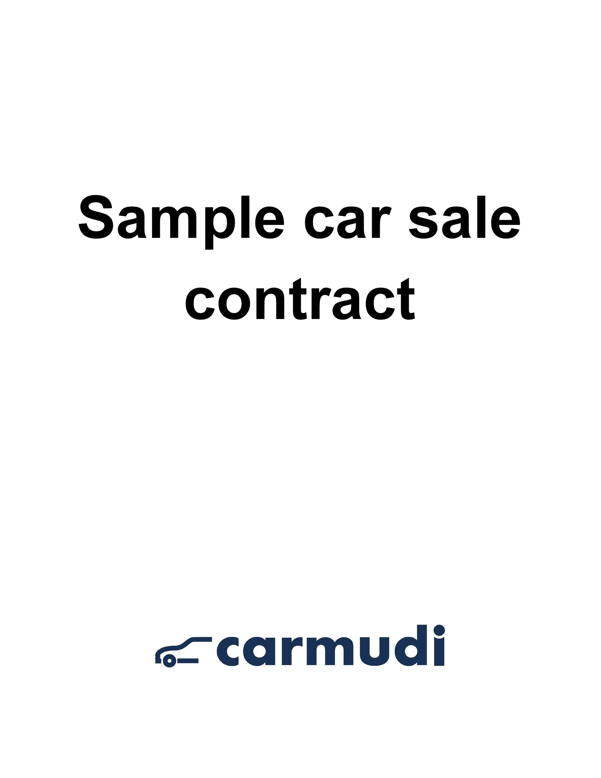 Car Sale Agreement Sales Agreement 12 Free