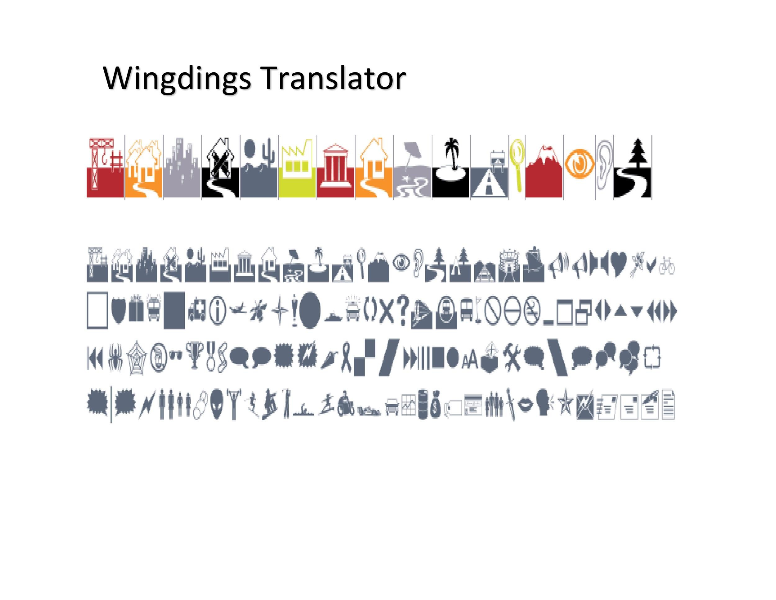 Free wingdings translator template 18