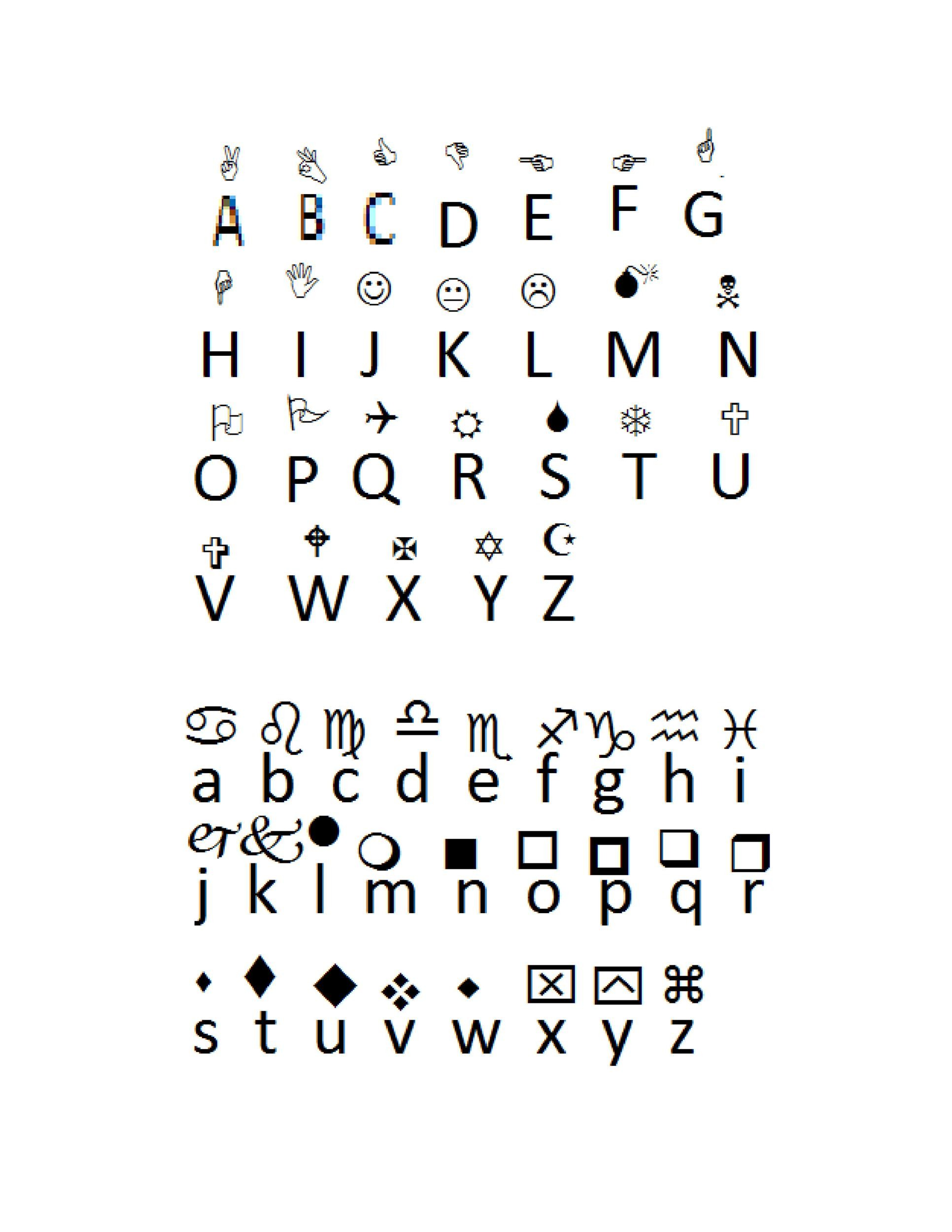 Free wingdings translator template 26