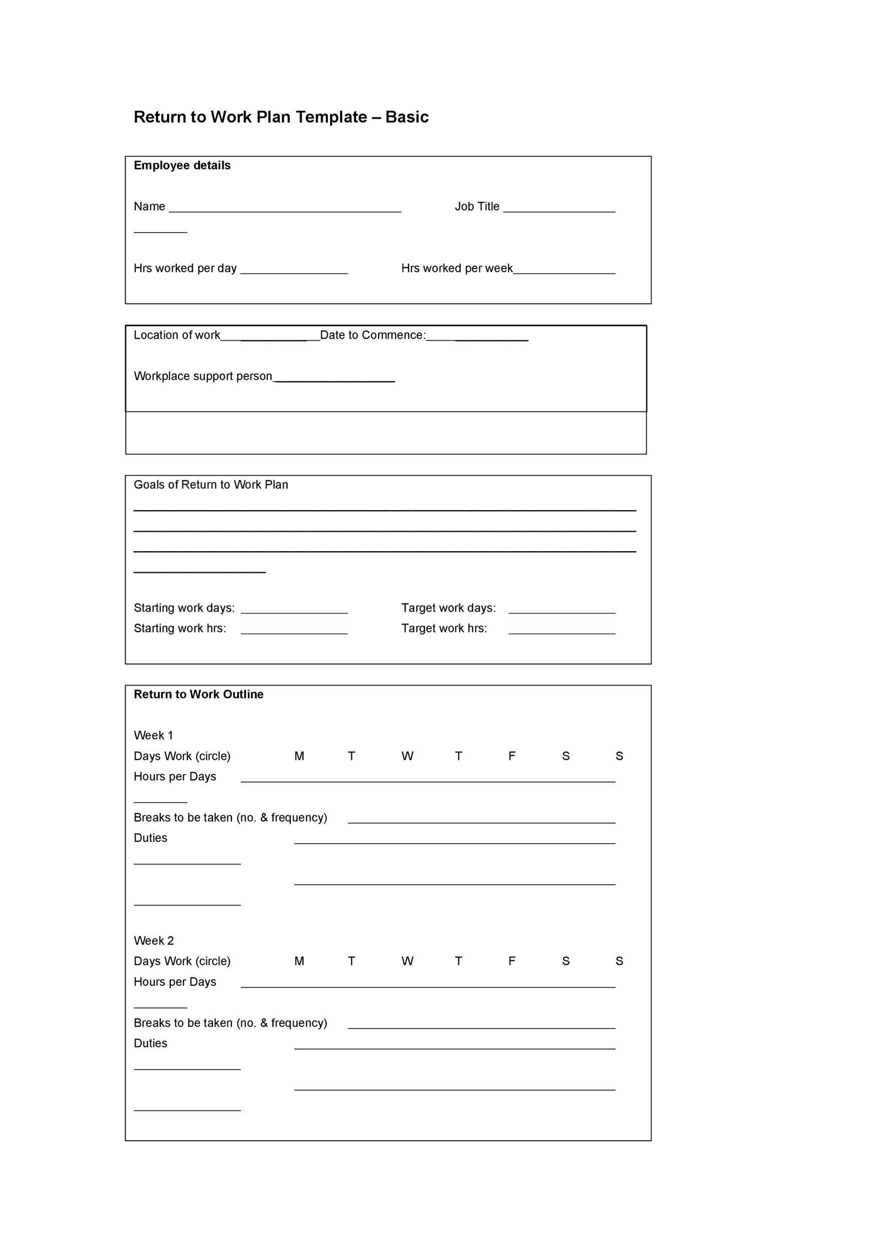 Free work plan template 03