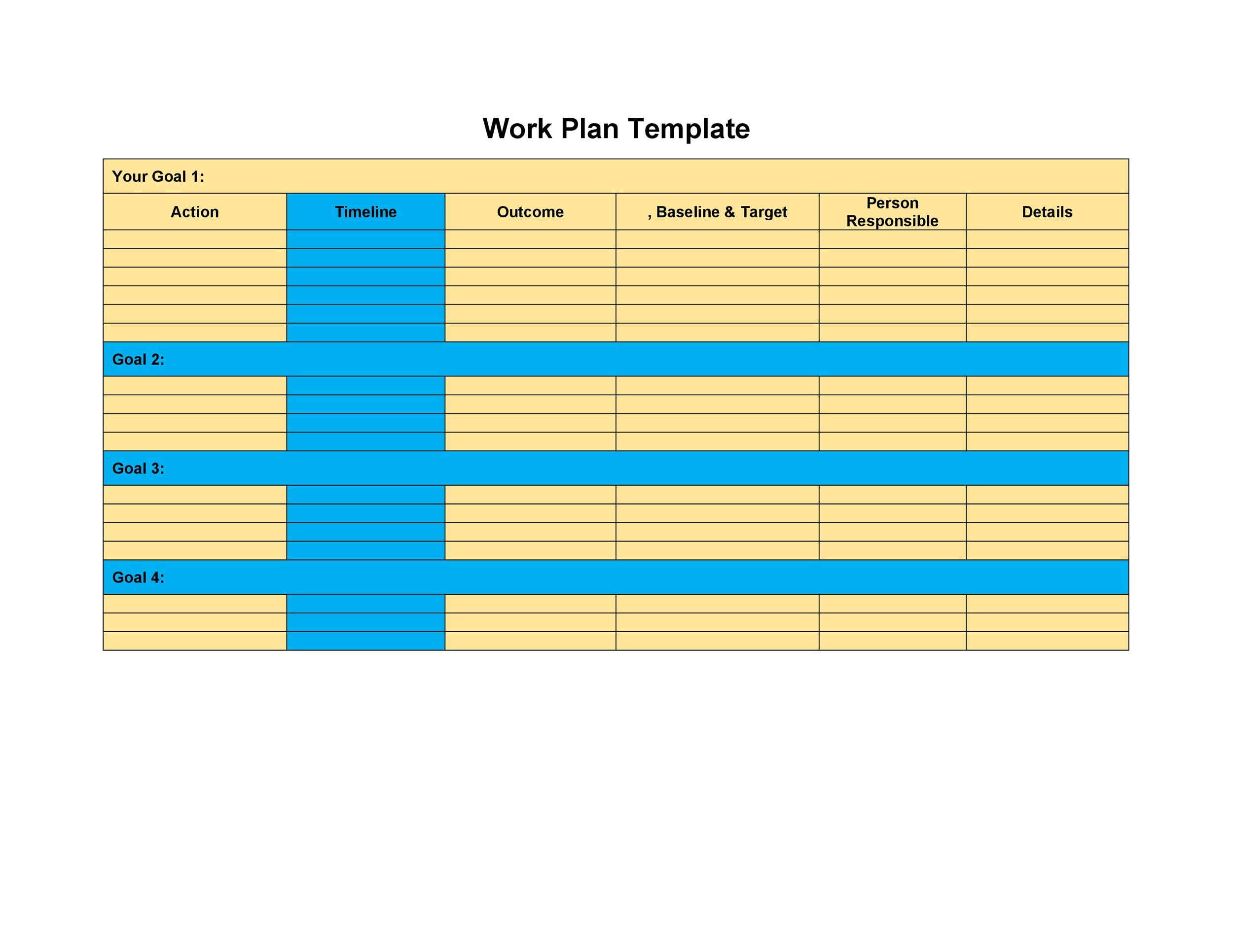 Free work plan template 14