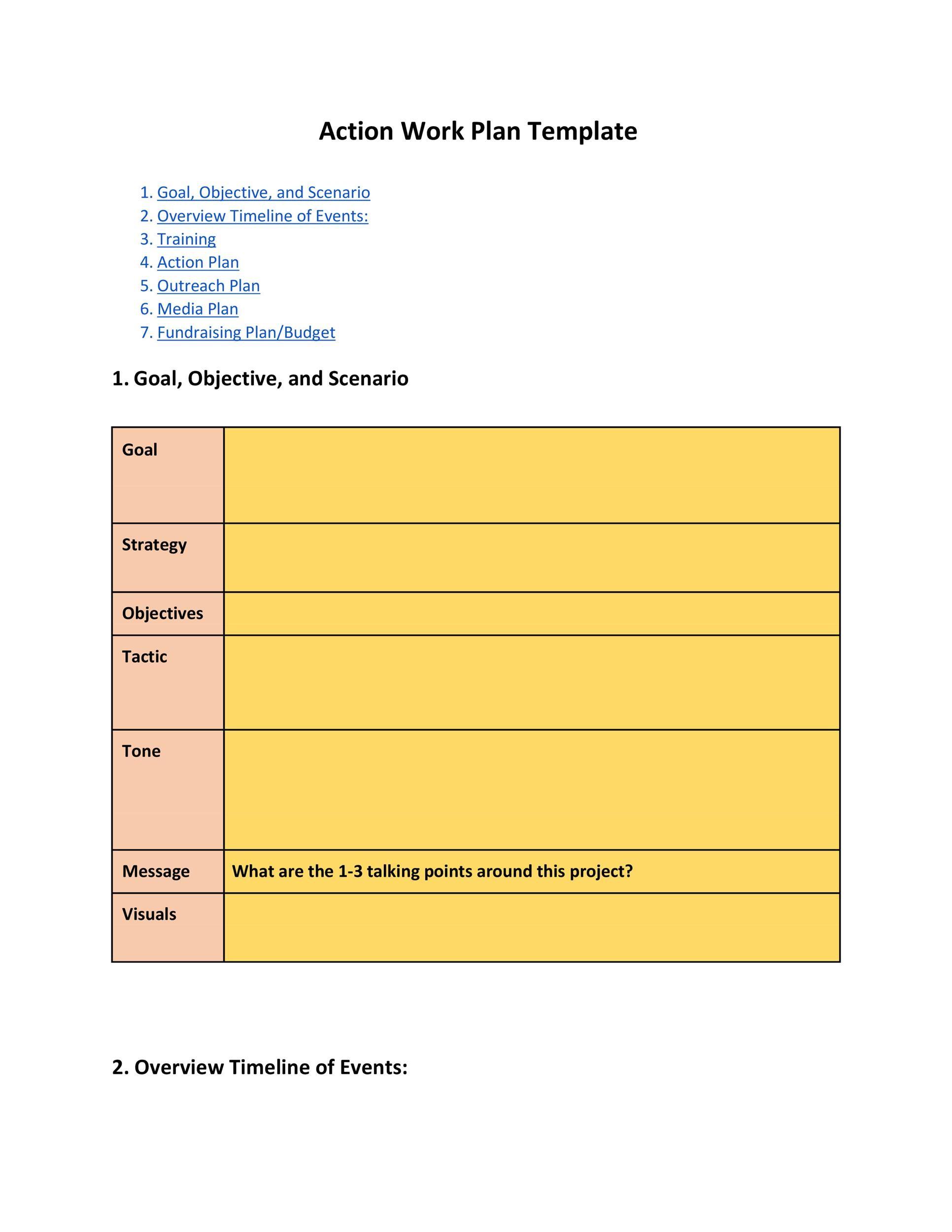 Free work plan template 26