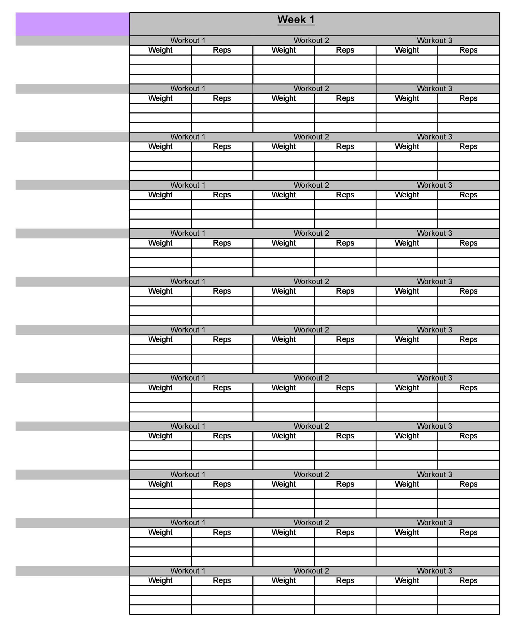 Free workout template 04