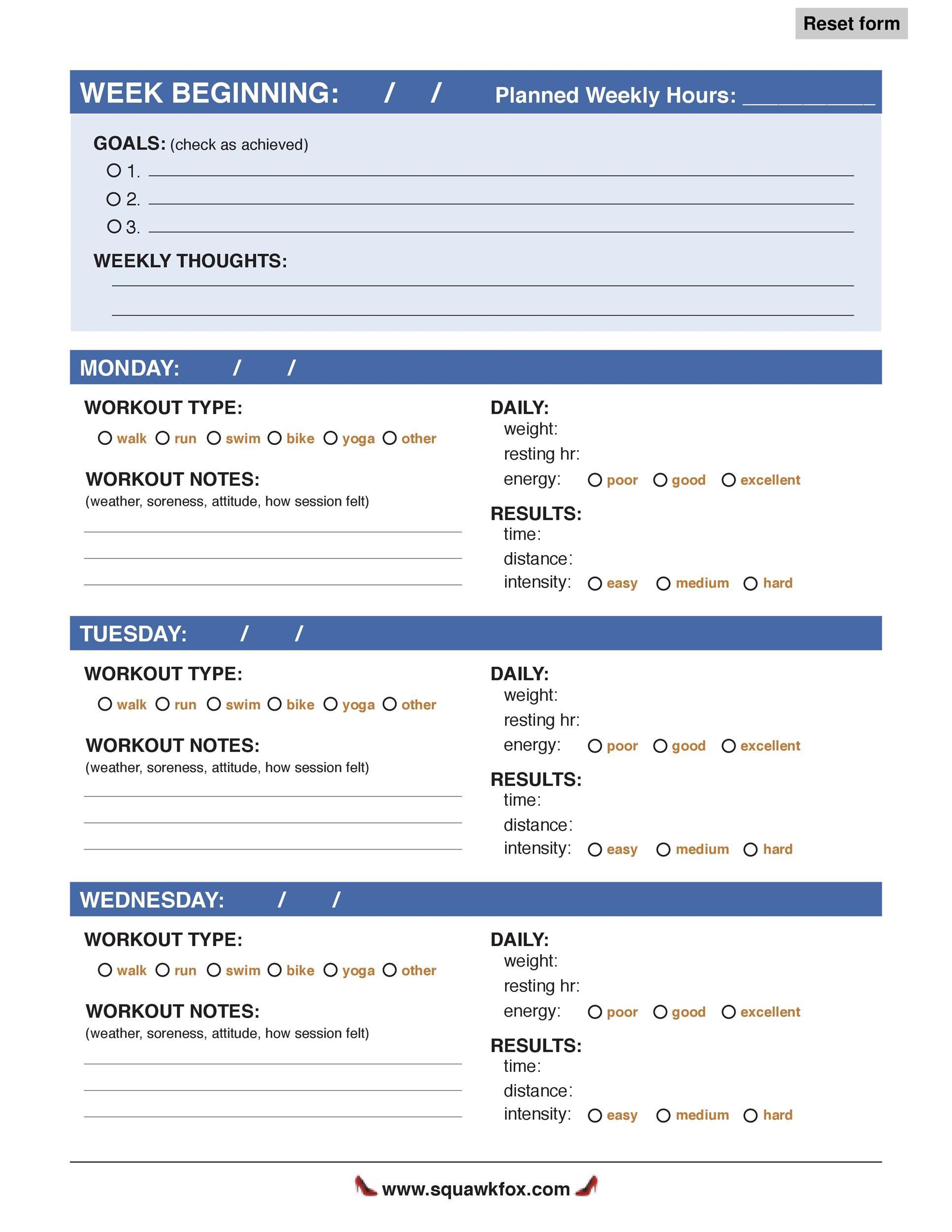 40 Effective Workout Log Calendar Templates Template Lab – Workout Calendar Template