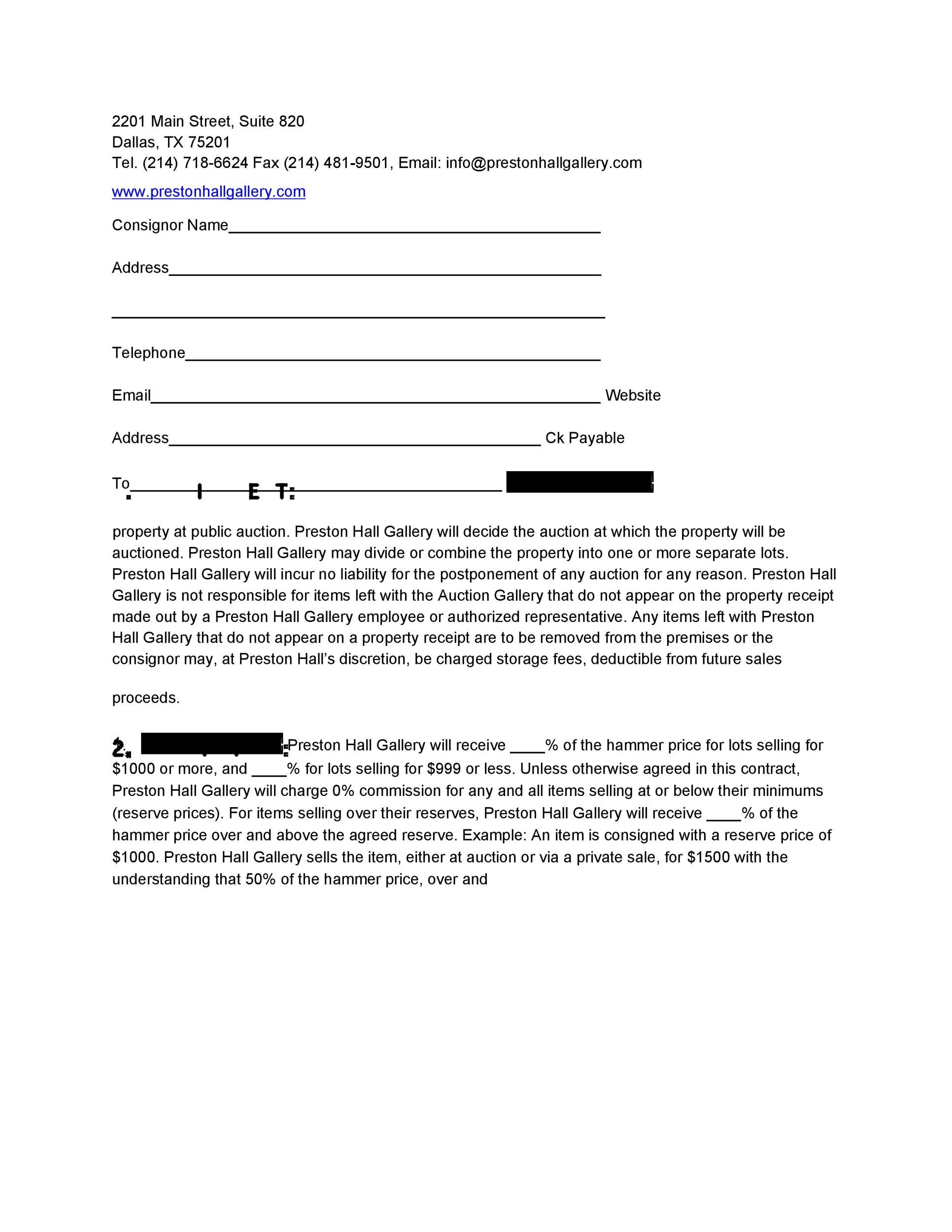 40 Best Consignment Agreement Templates Forms ᐅ Template Lab