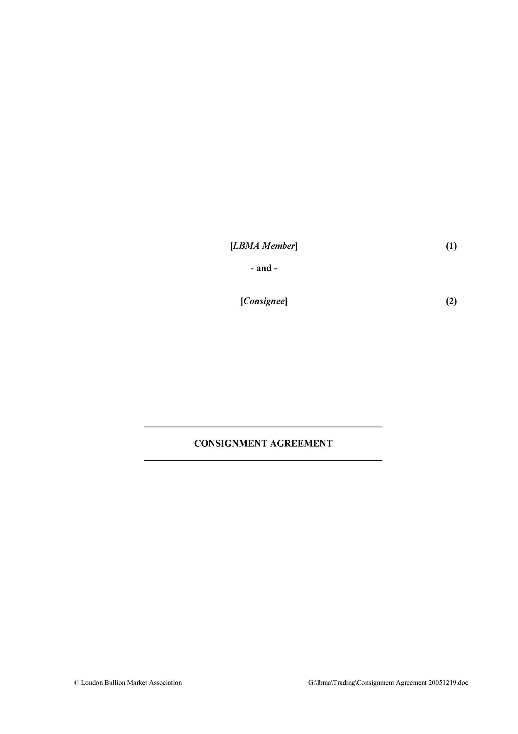 Free Consignment Agreement Template 32