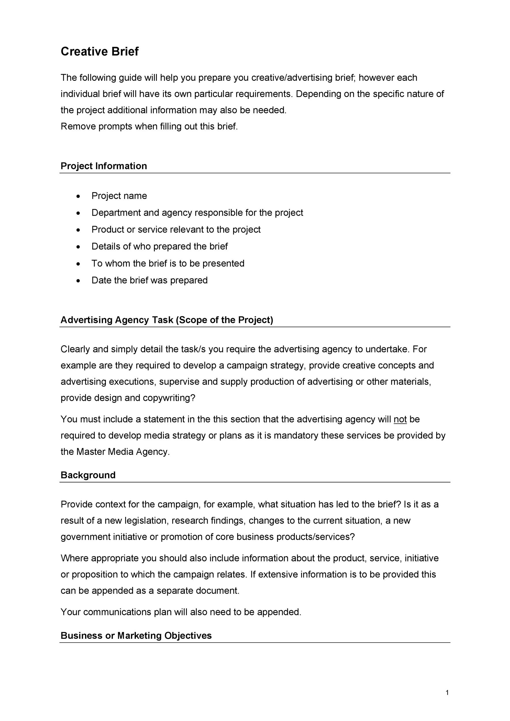 Modern creative brief templates model example resume and for Ogilvy creative brief template