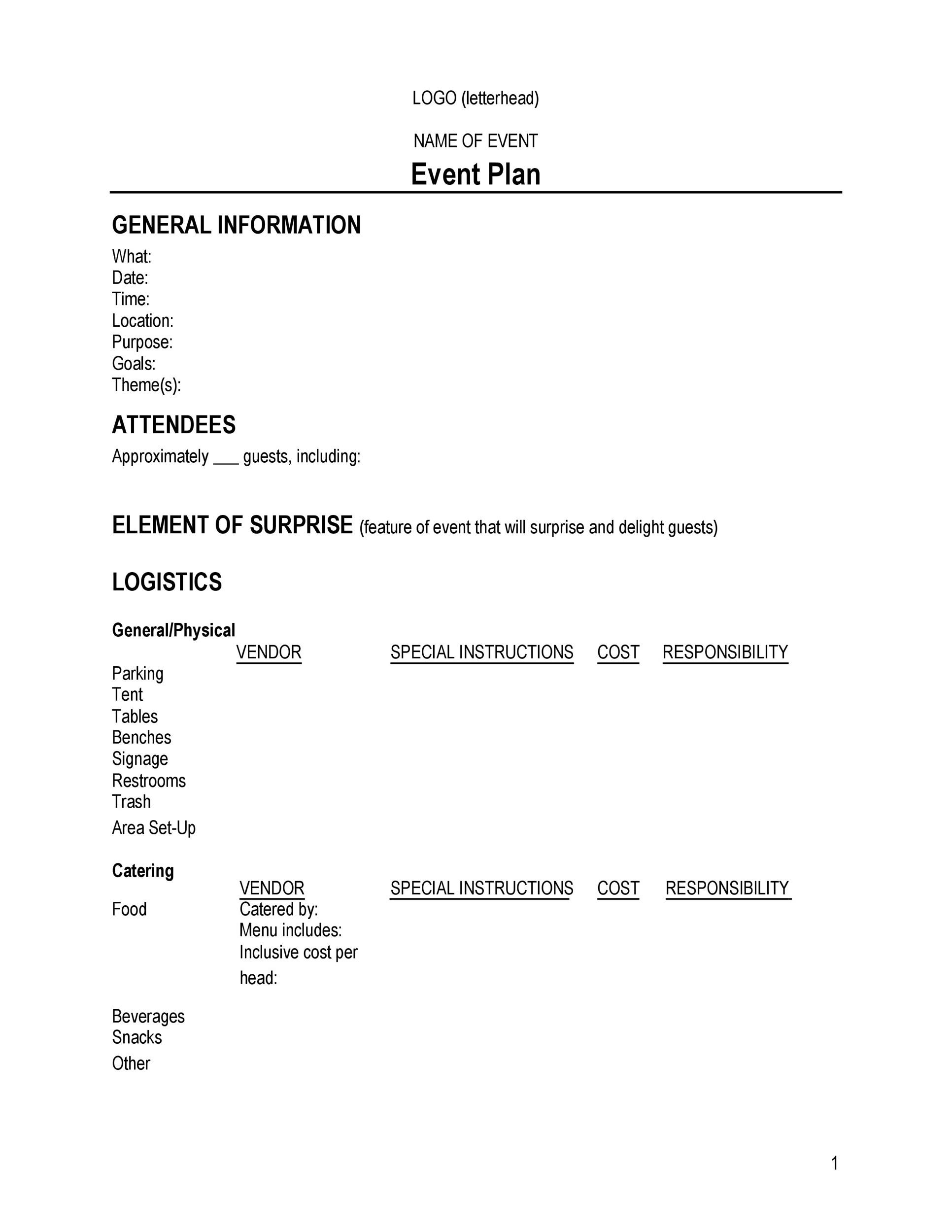 Free Event Planning Template 05
