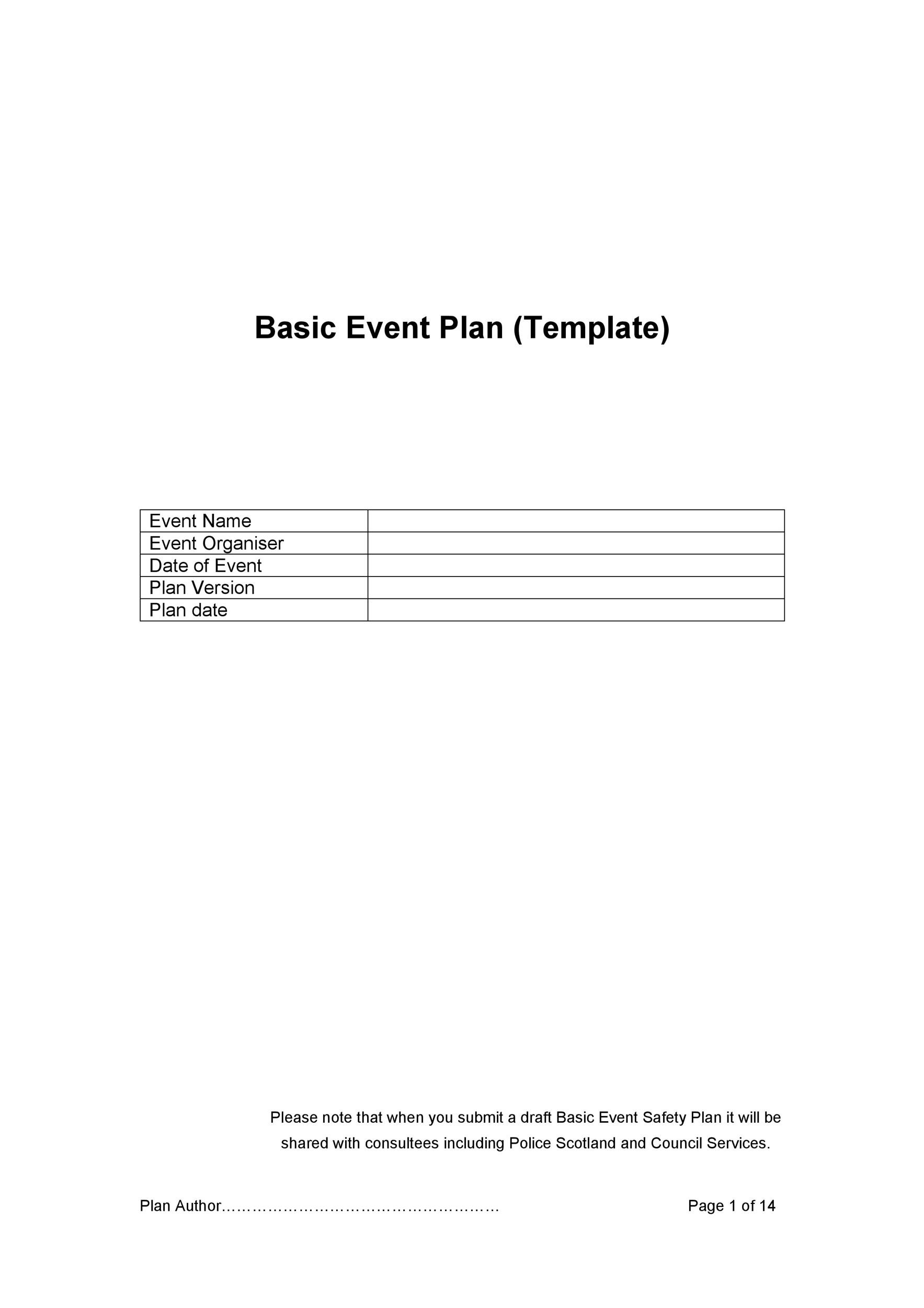 Free Event Planning Template 07