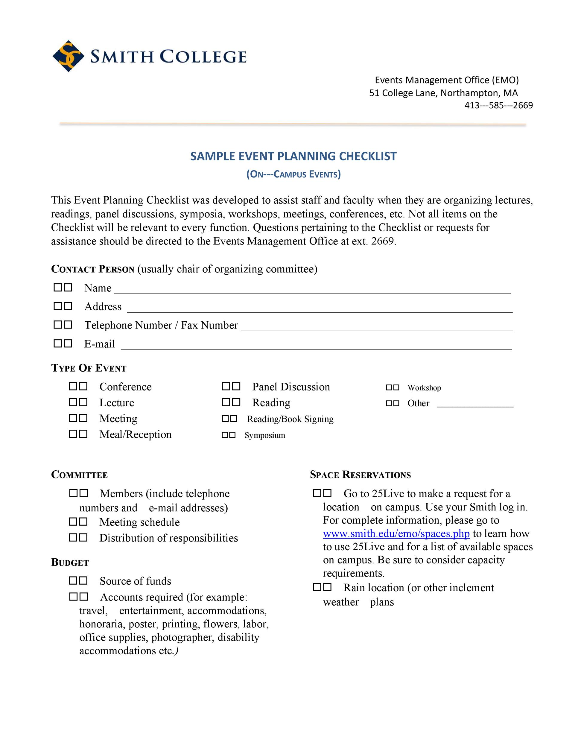 Free Event Planning Template 08
