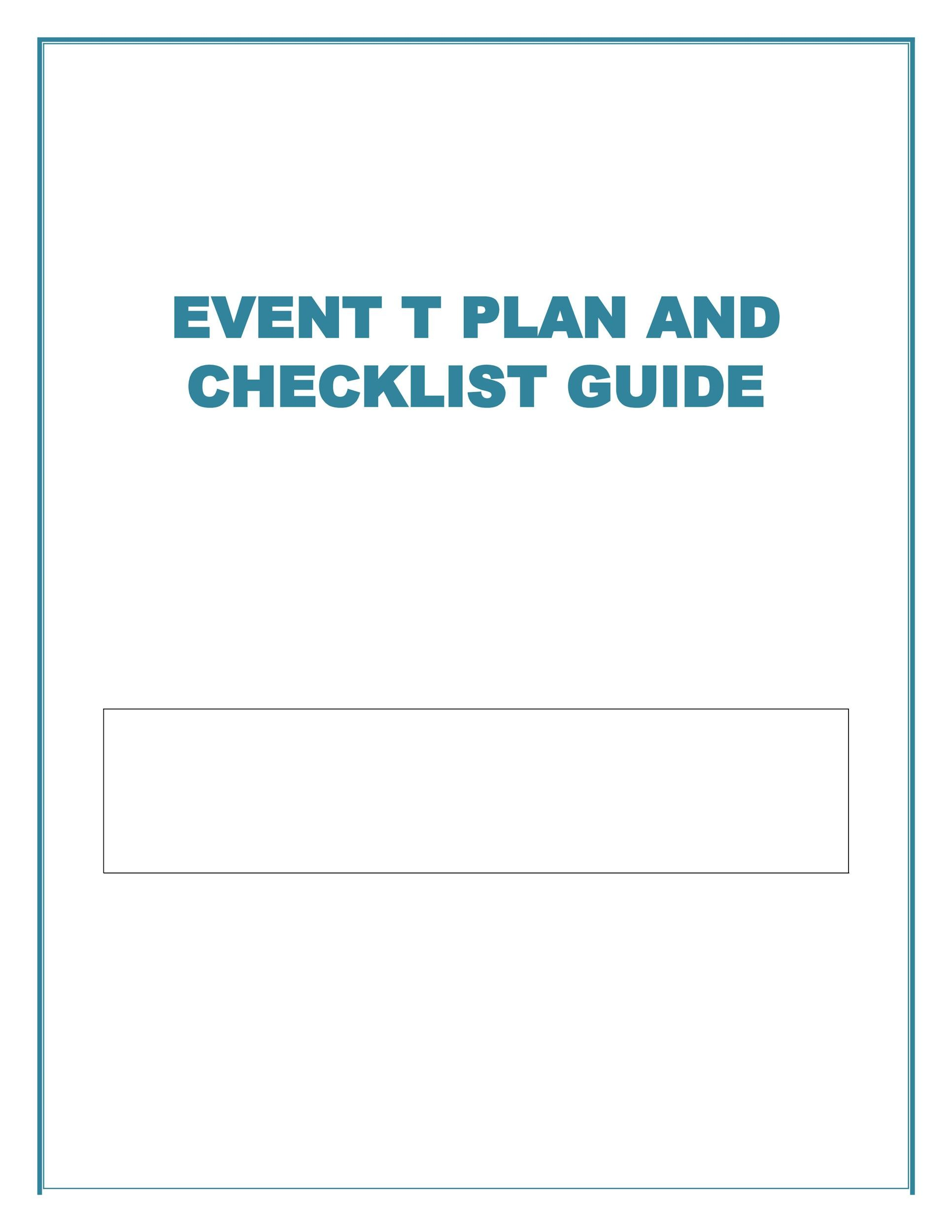 Free Event Planning Template 09