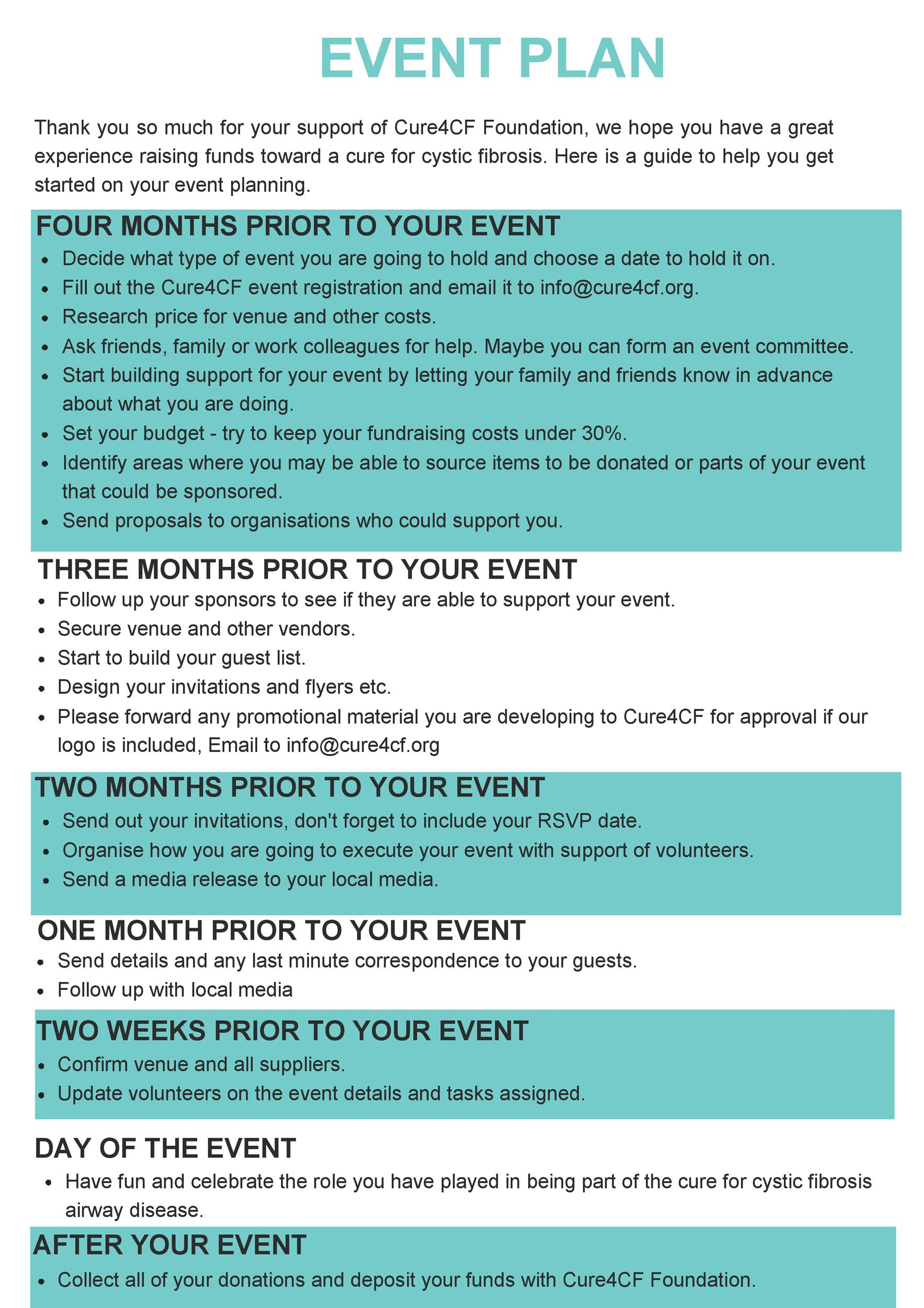 Free Event Planning Template 21