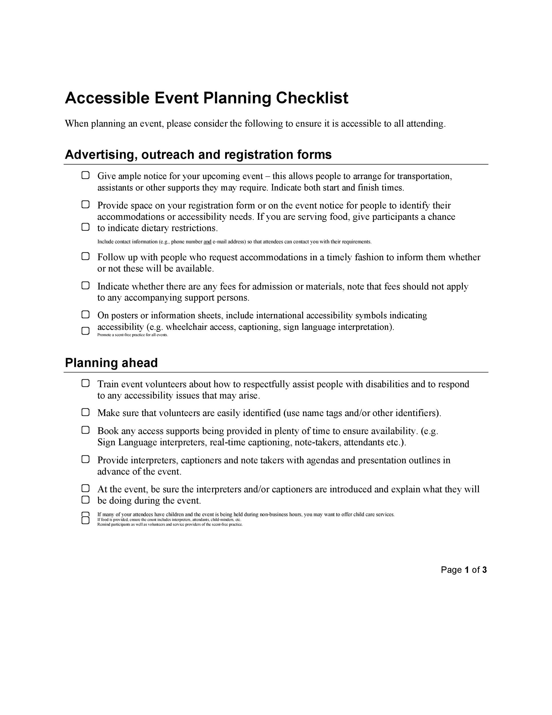 Free Event Planning Template 22