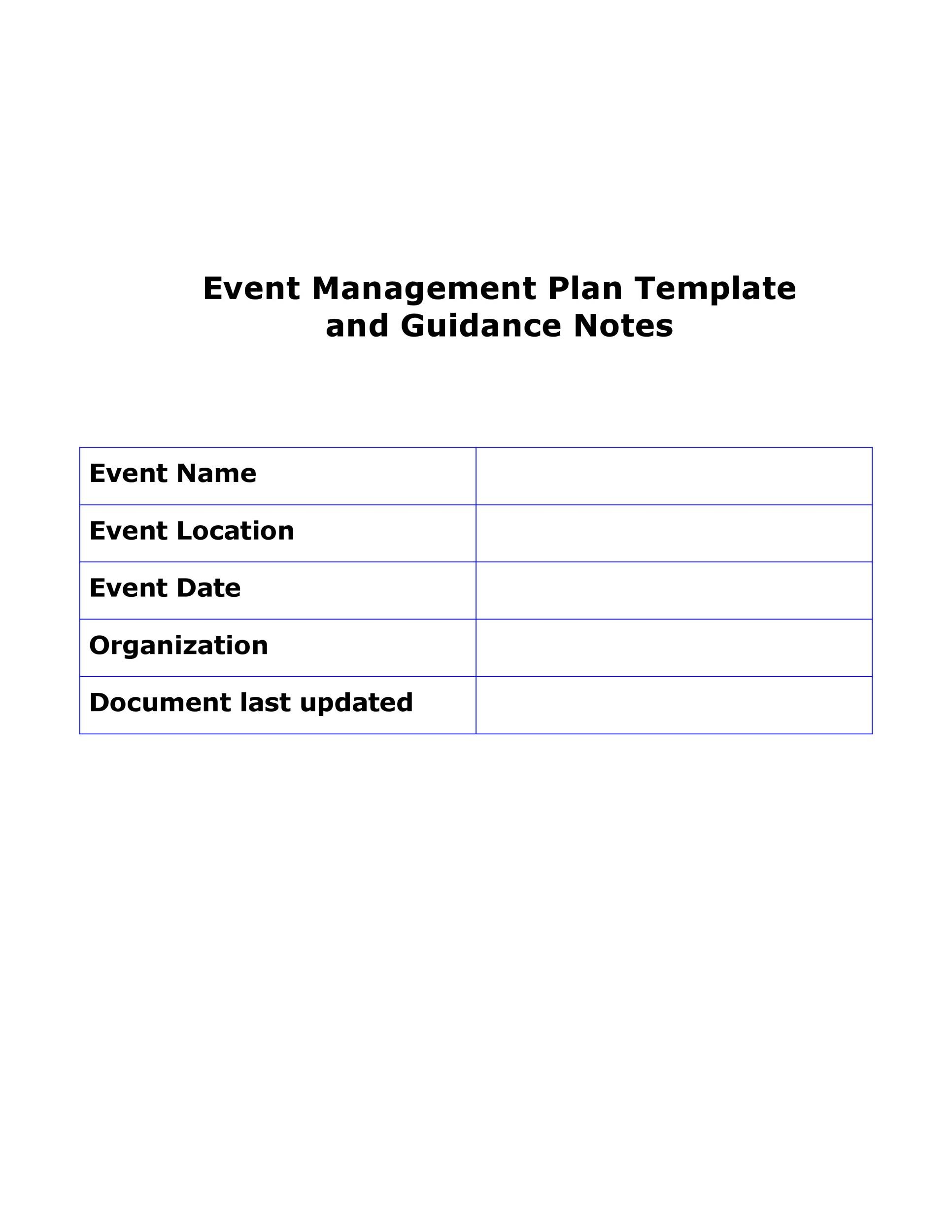 Free Event Planning Template 23