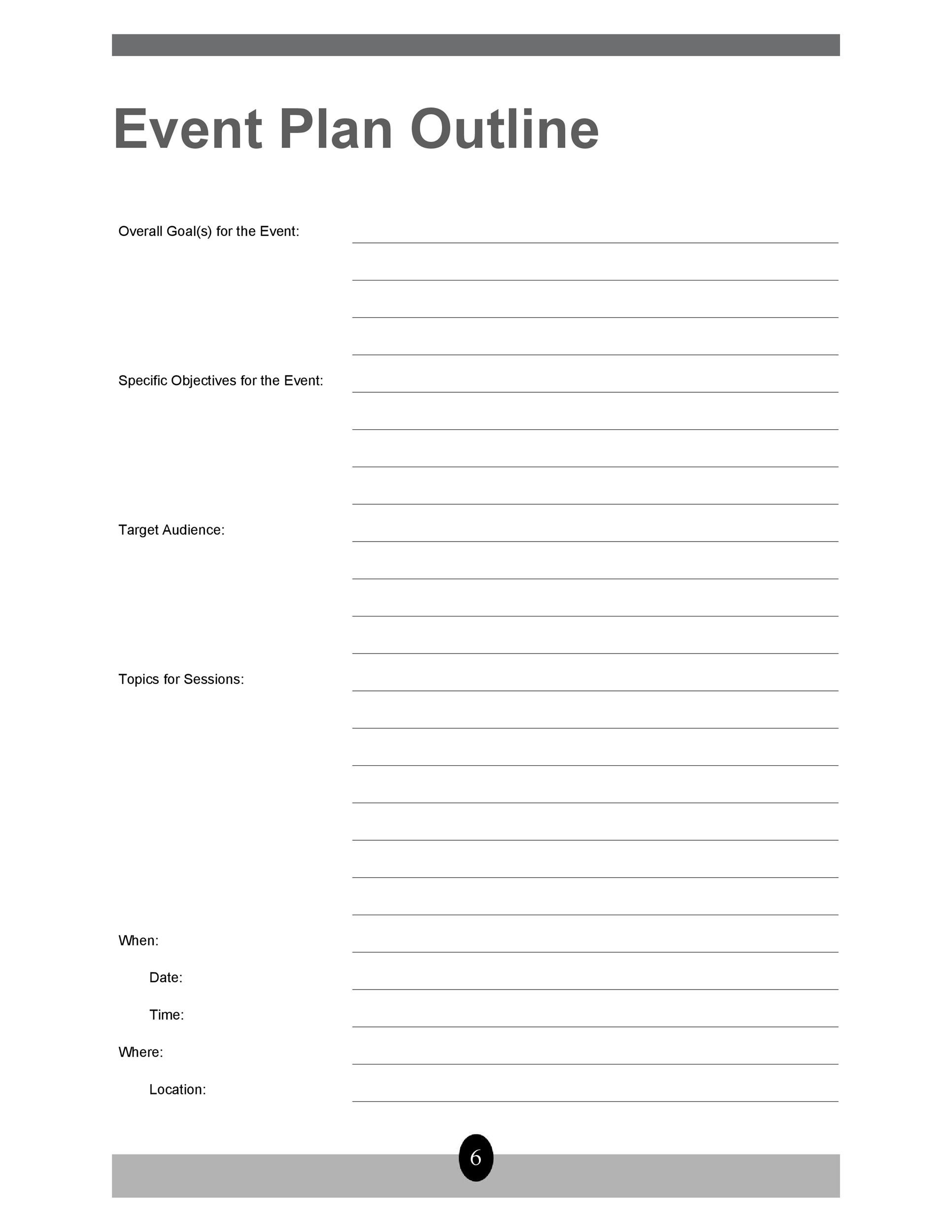 Free Event Planning Template 24