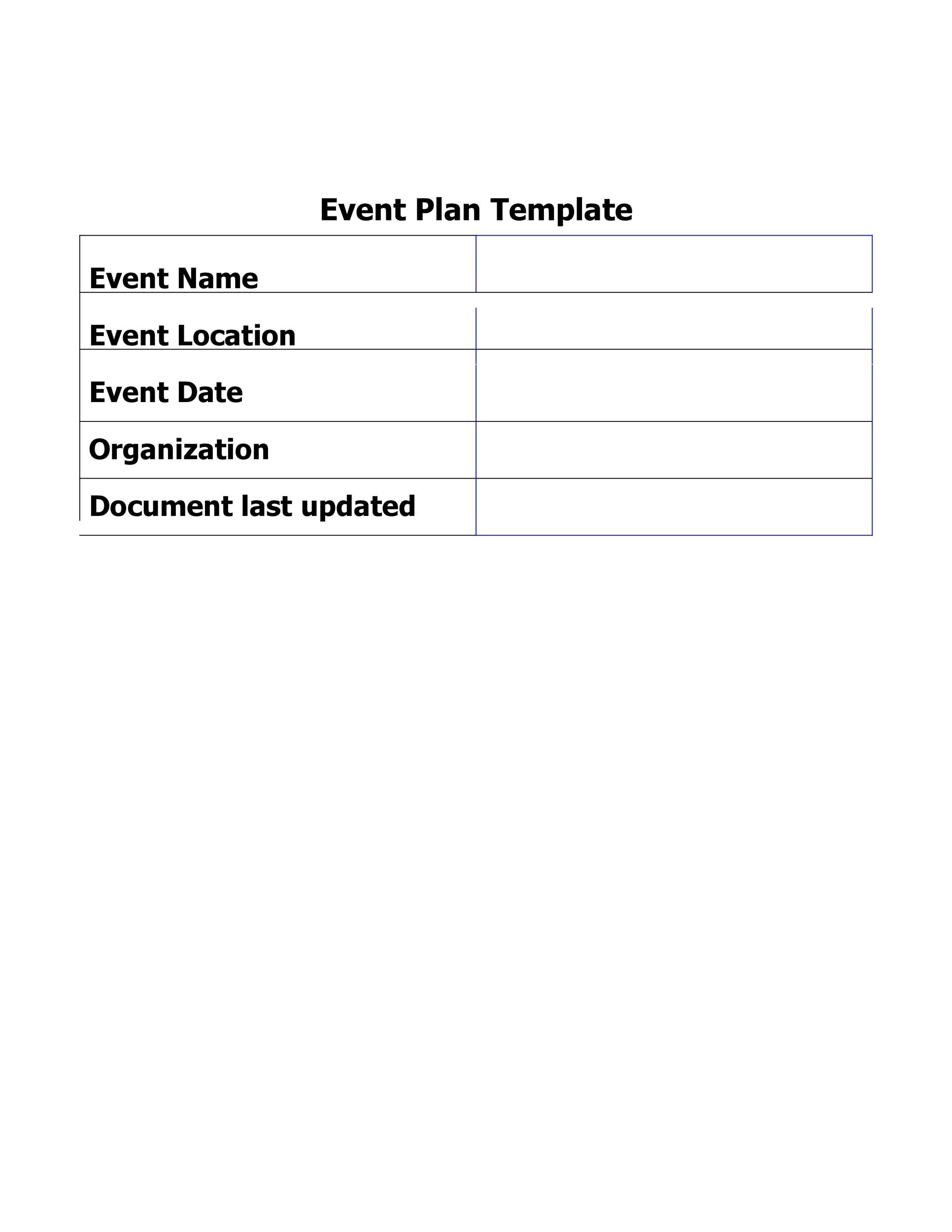 Free Event Planning Template 28