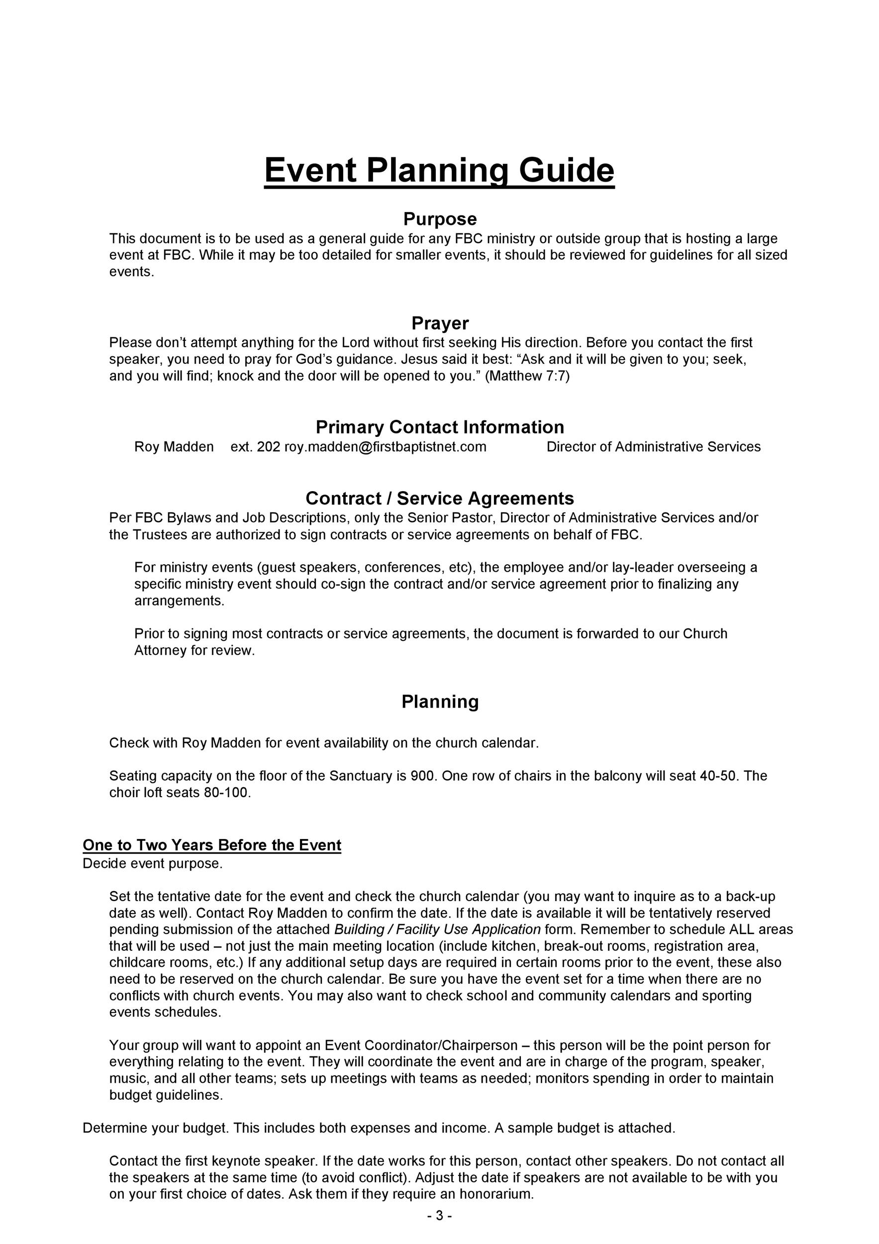 Free Event Planning Template 29