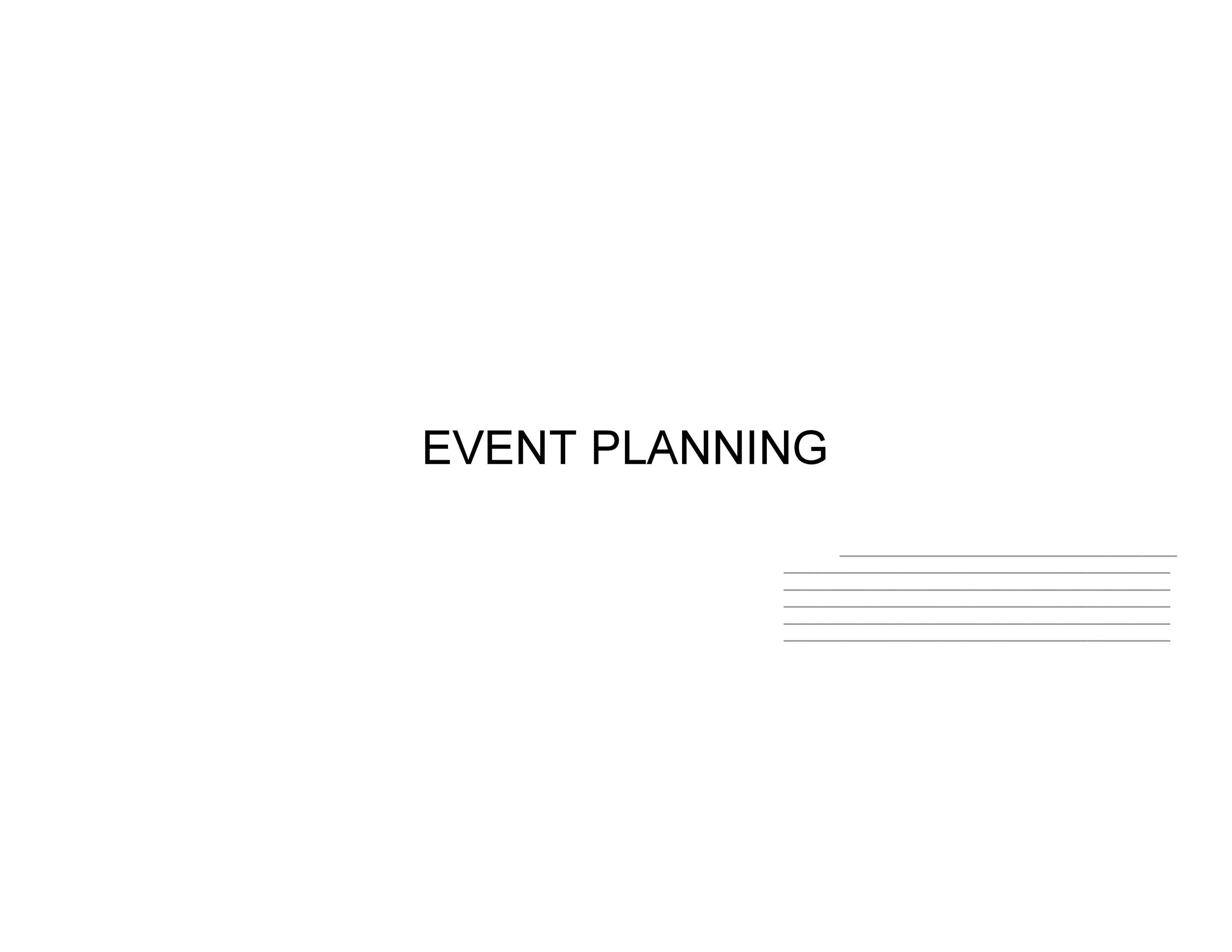 Free Event Planning Template 31