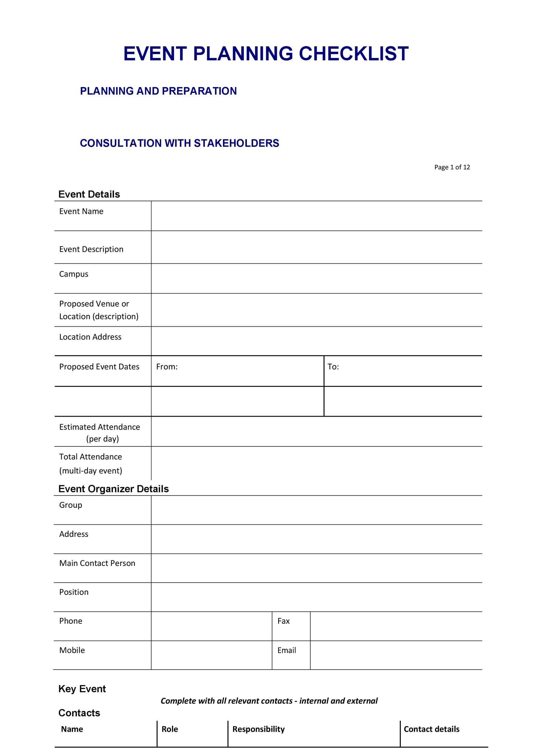 Free Event Planning Template 39