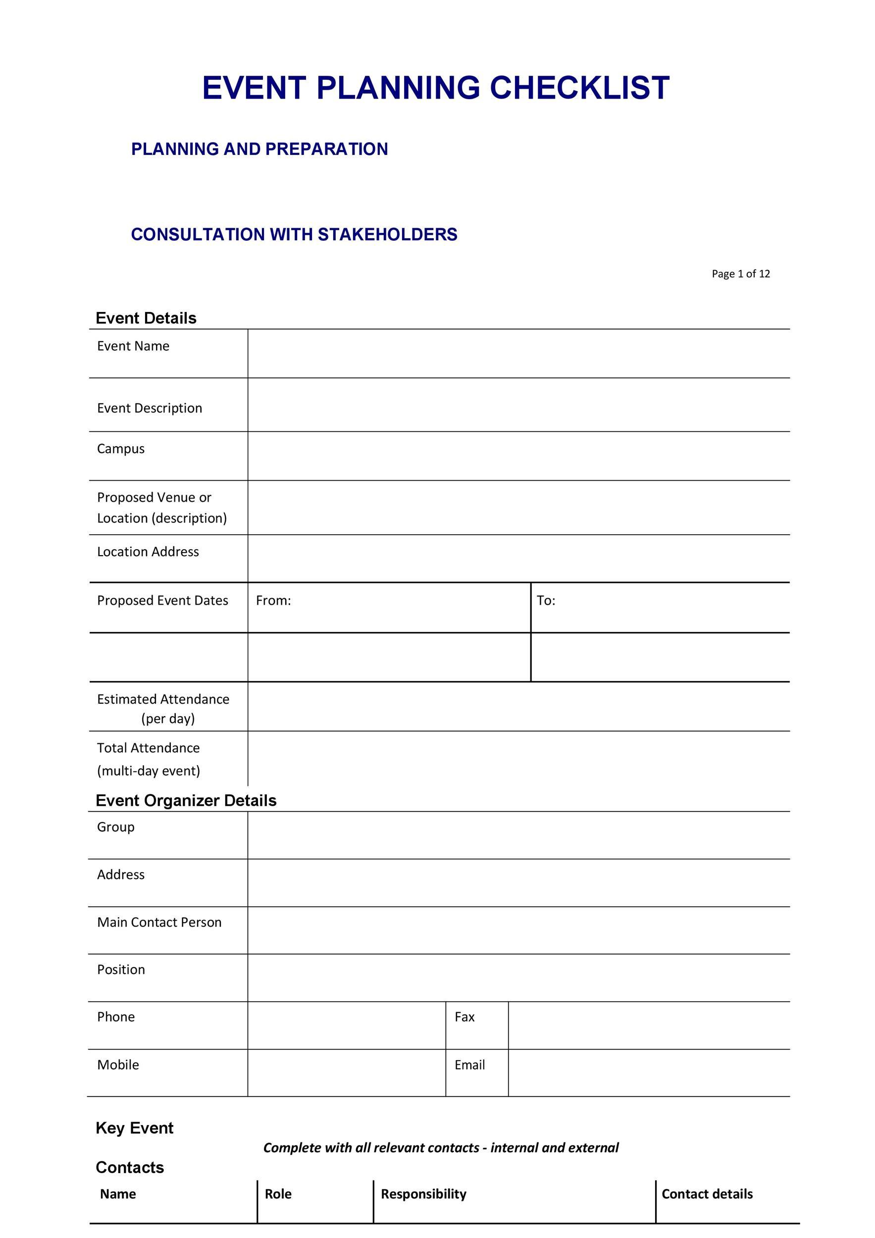 50 Professional Event Planning Checklist Templates ᐅ ...