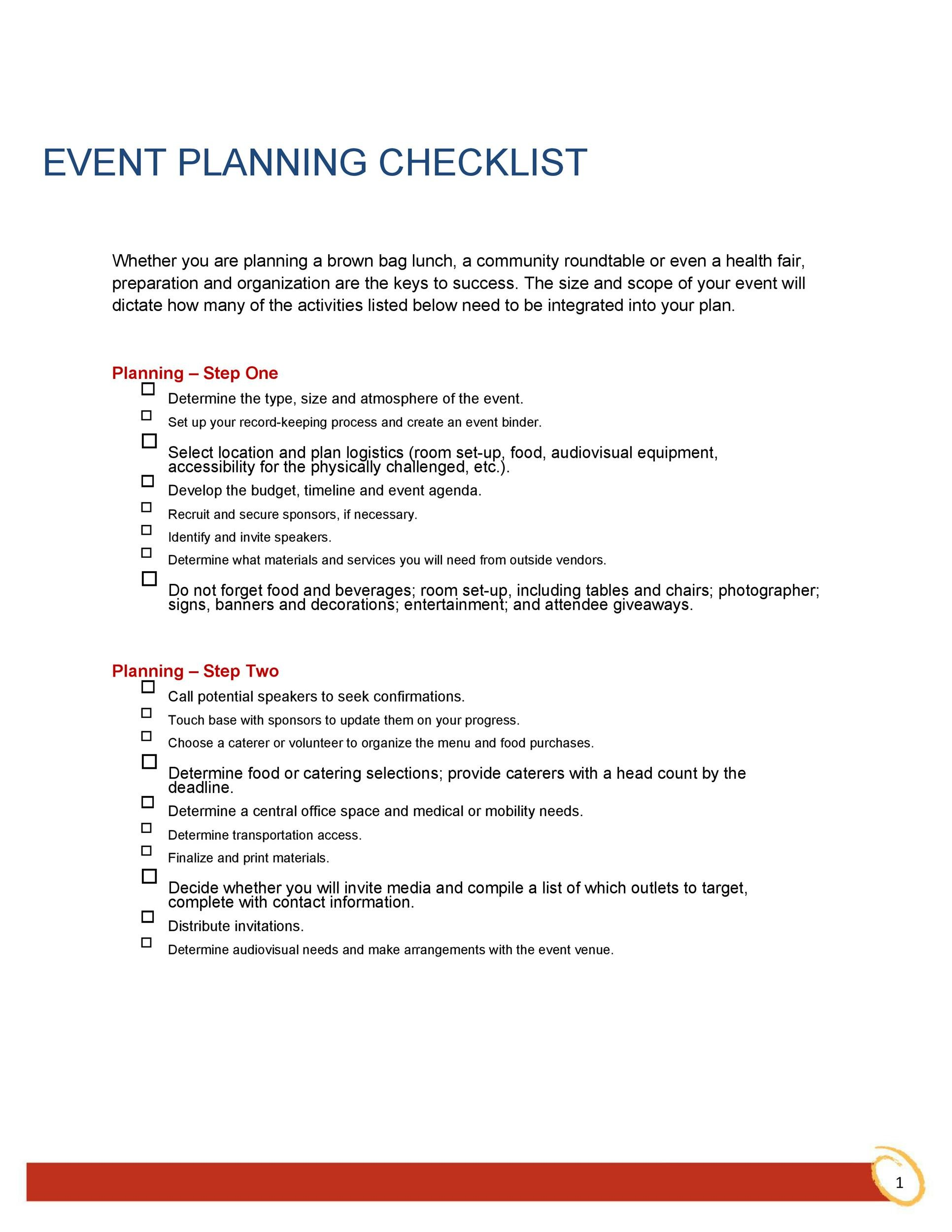 Free Event Planning Template 41