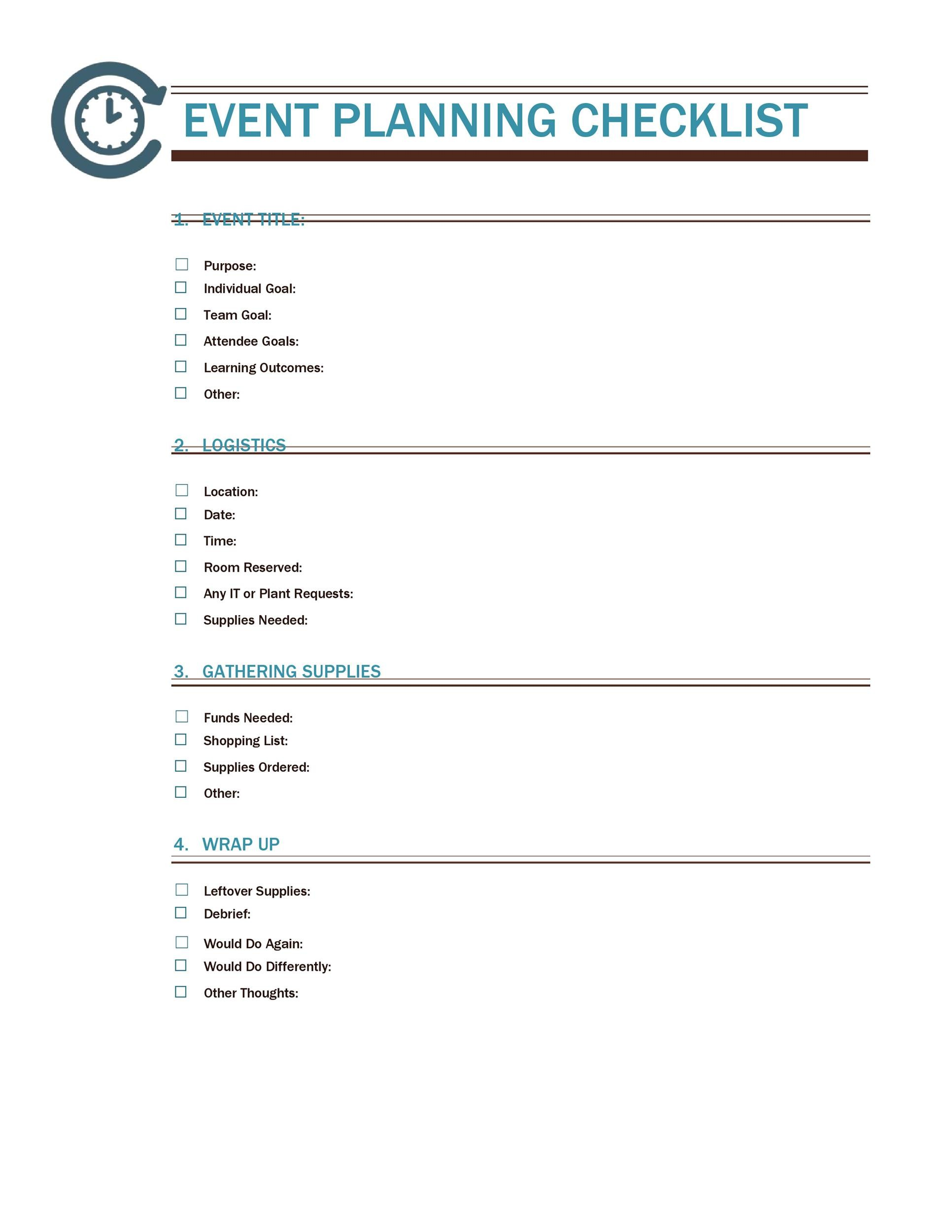 Free Event Planning Template 44