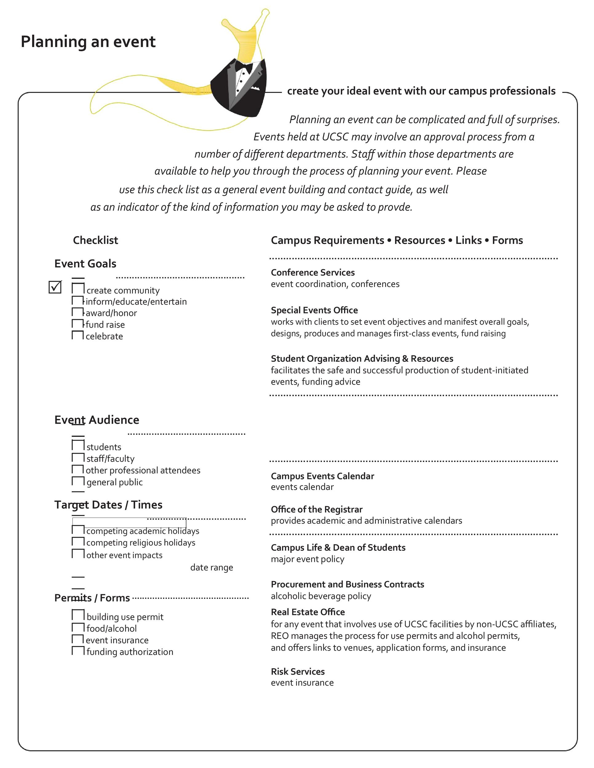 Free Event Planning Template 46
