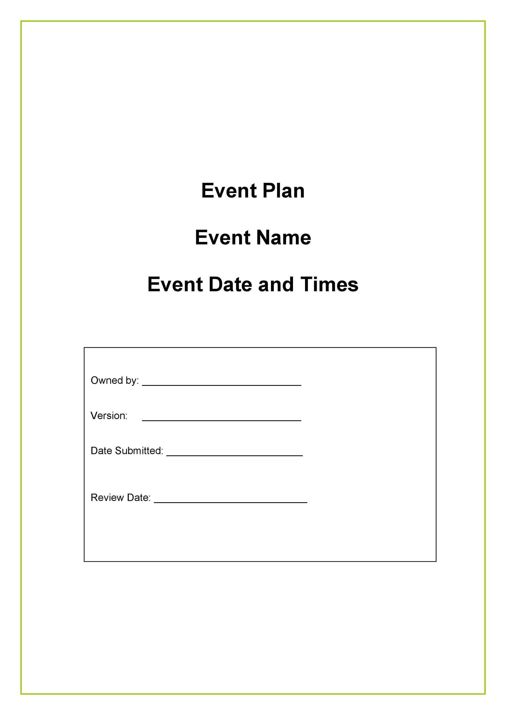 Free Event Planning Template 49
