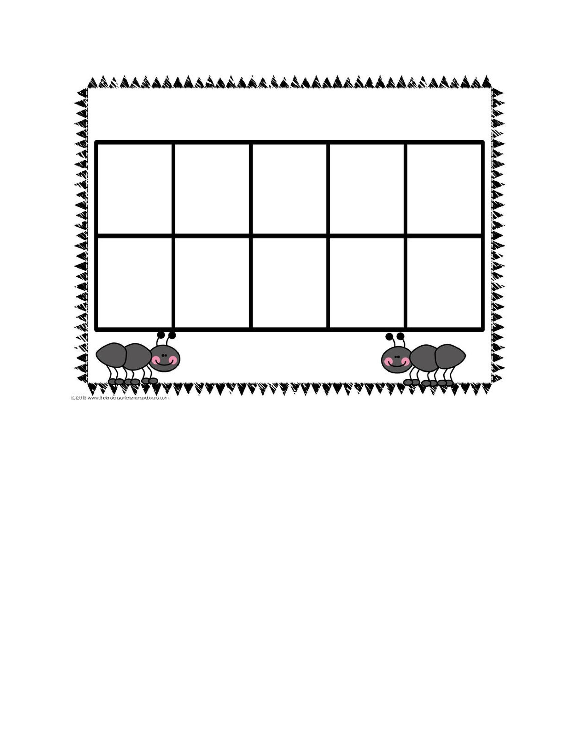 Free Ten Frame Template 03