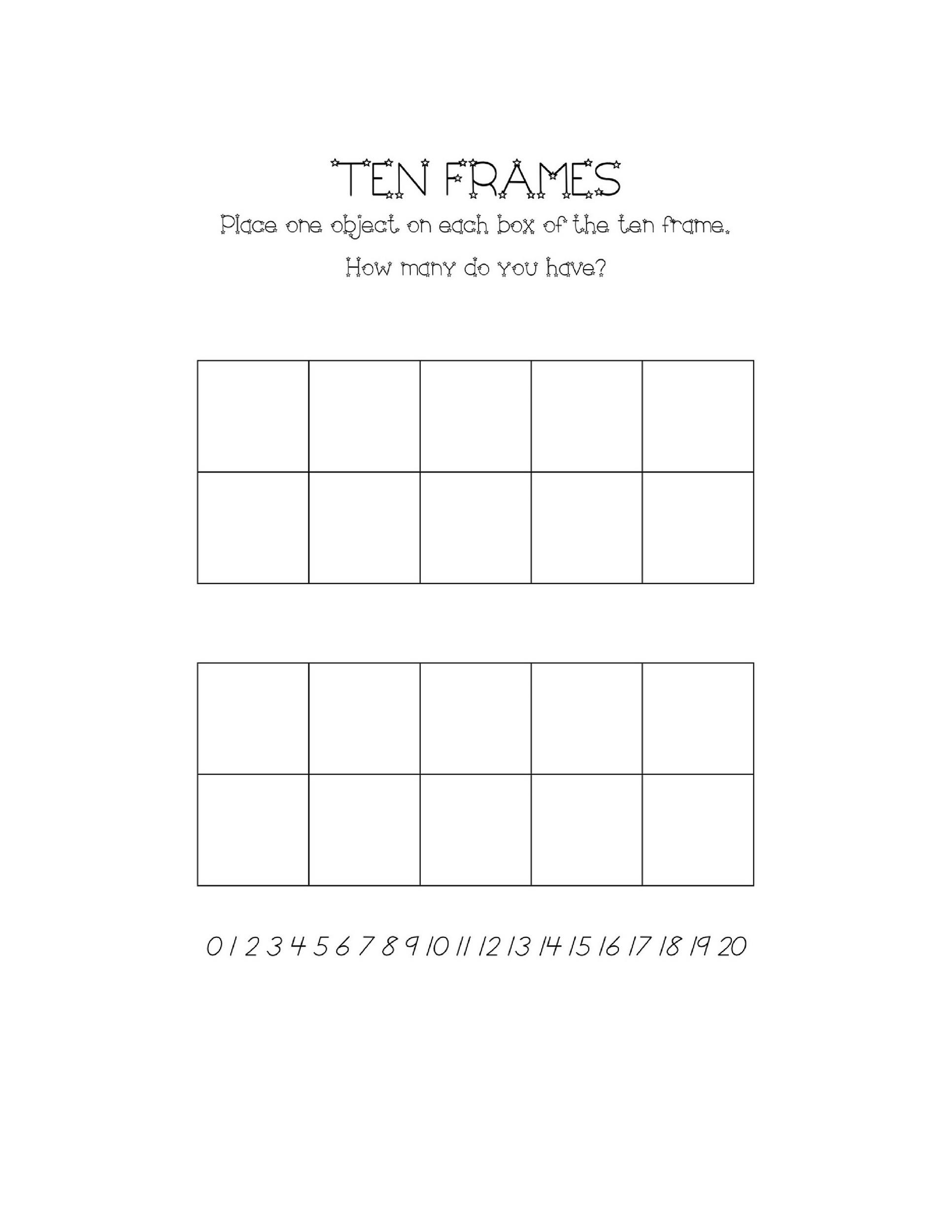 Free Ten Frame Template 05