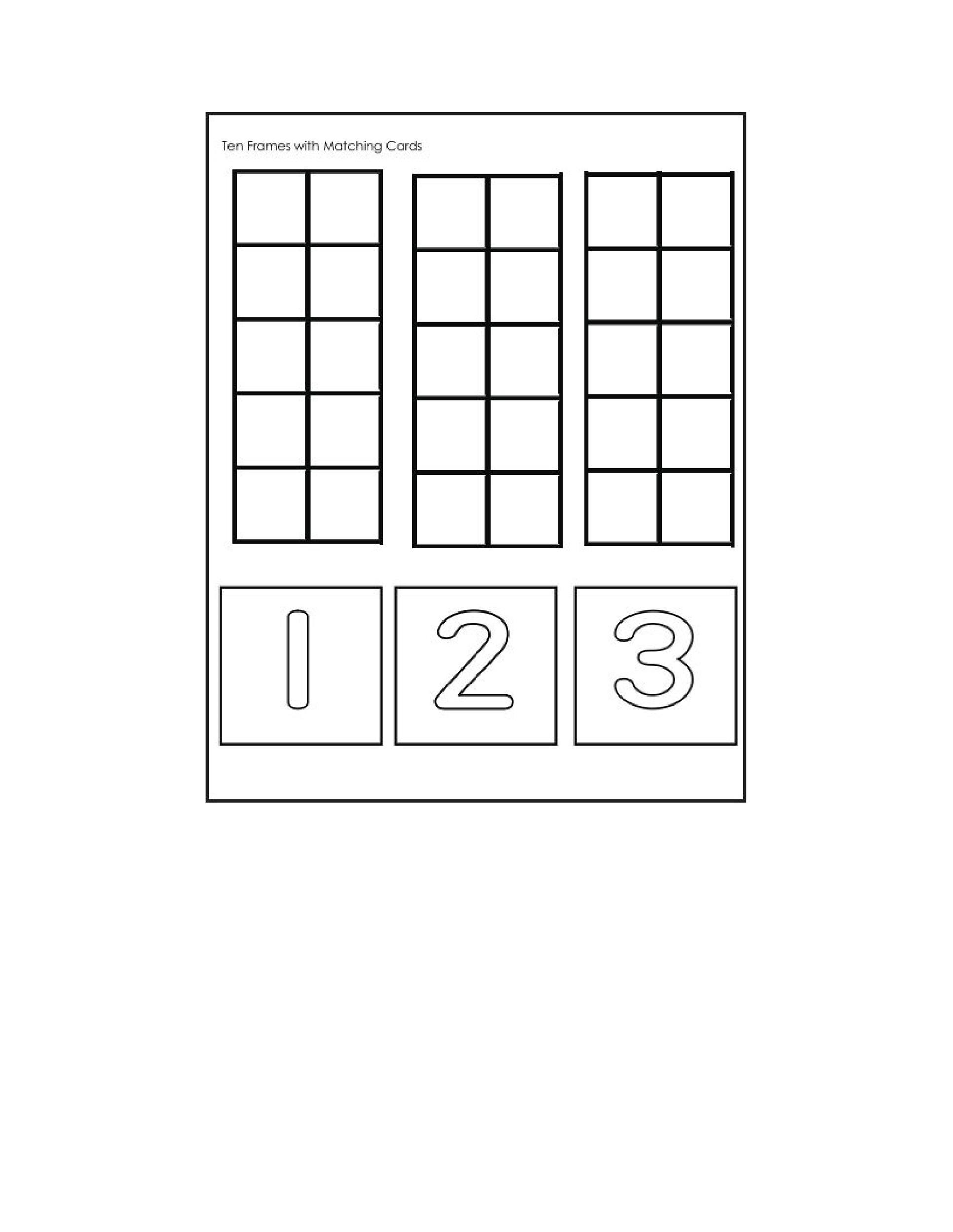Free Ten Frame Template 06