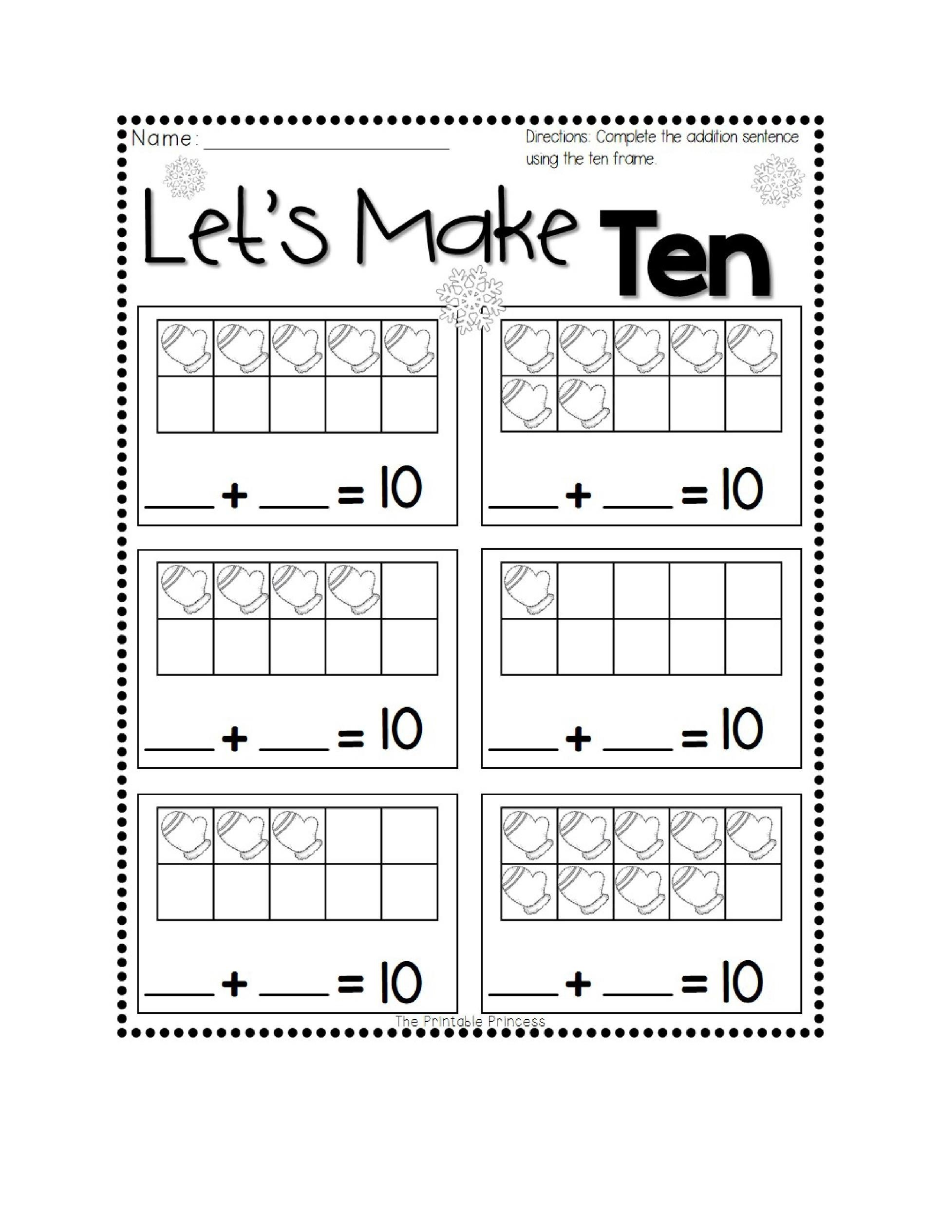 Free Ten Frame Template 08