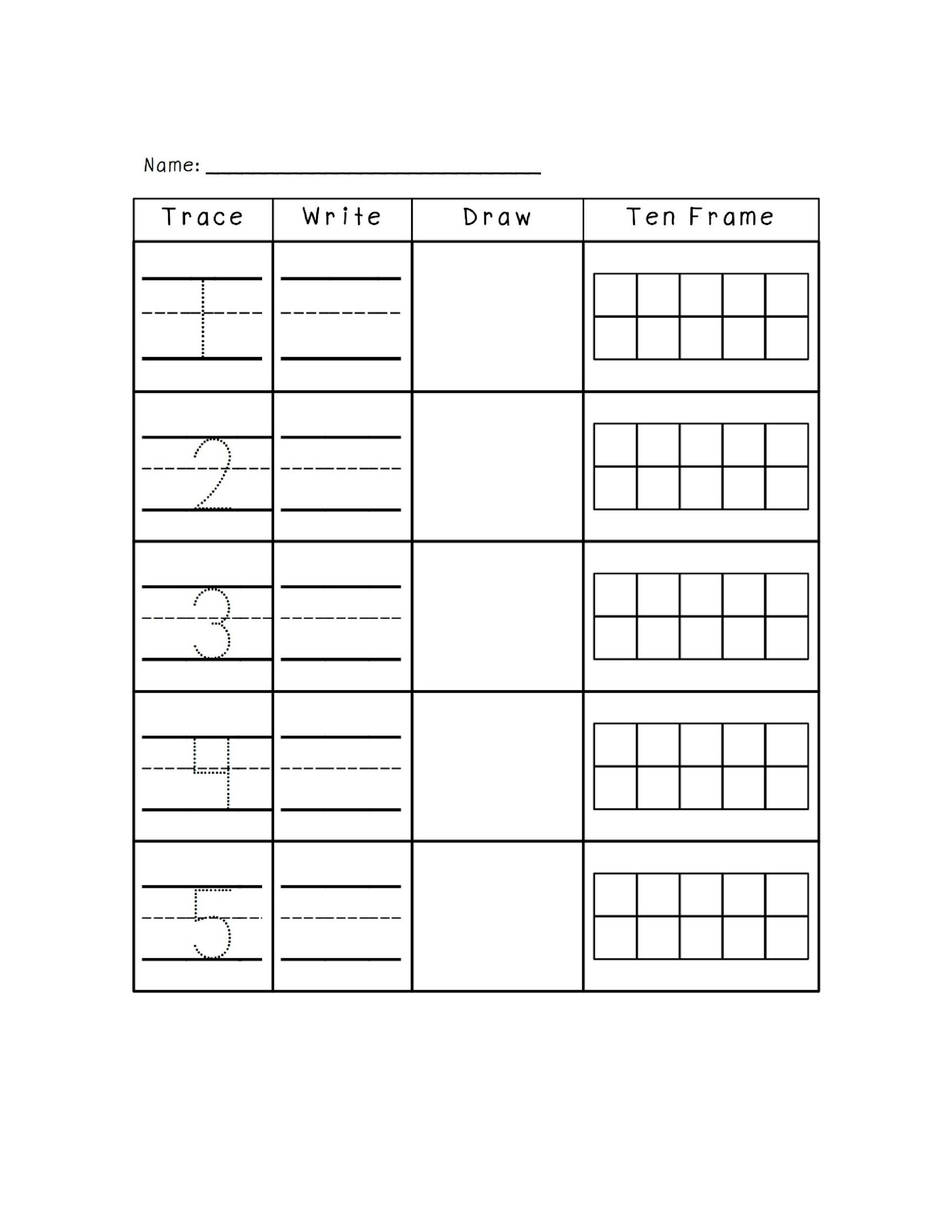 Free Ten Frame Template 10