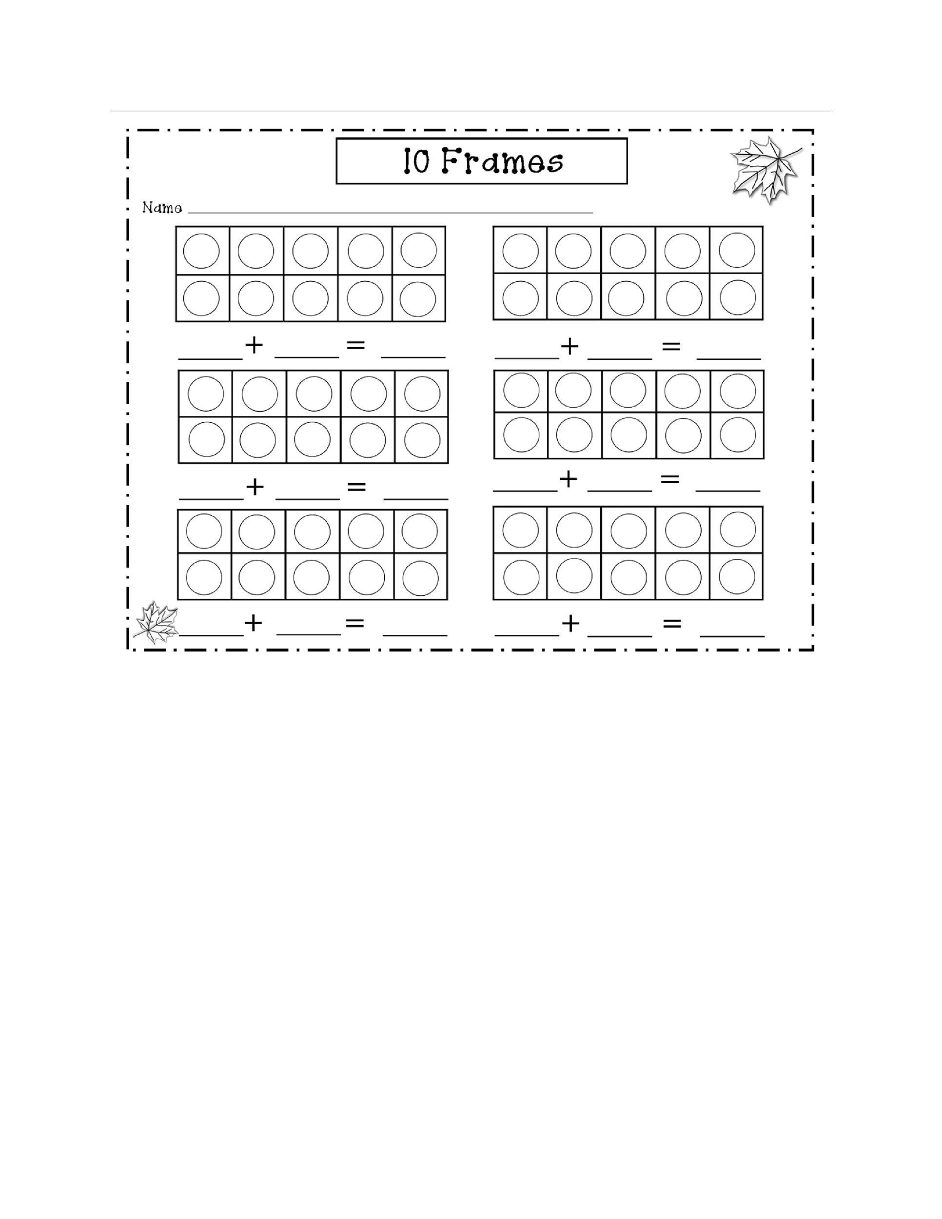 Free Ten Frame Template 11