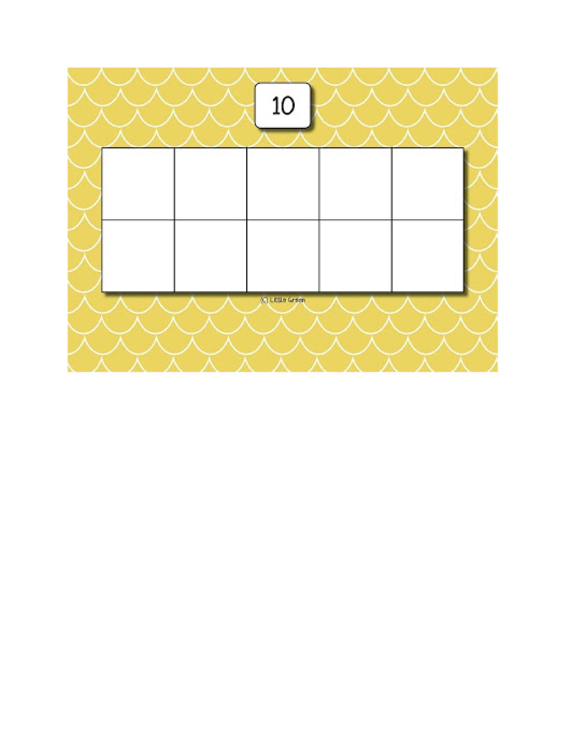 Free Ten Frame Template 19