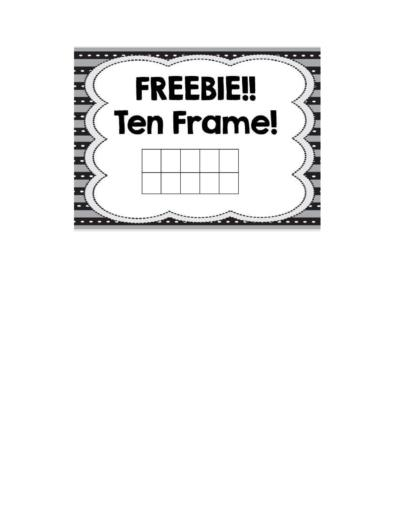 Ten Frame Templates