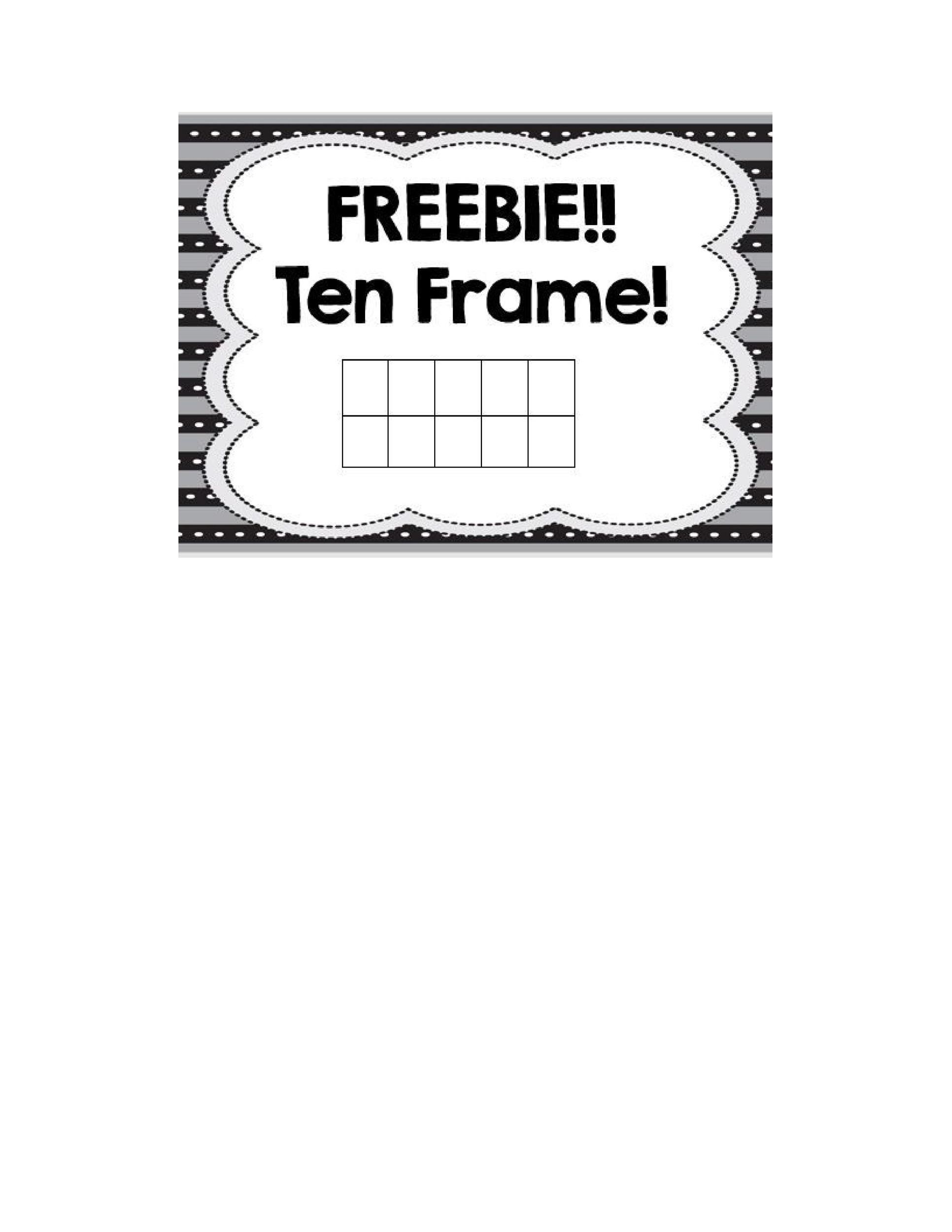 Free Ten Frame Template 22