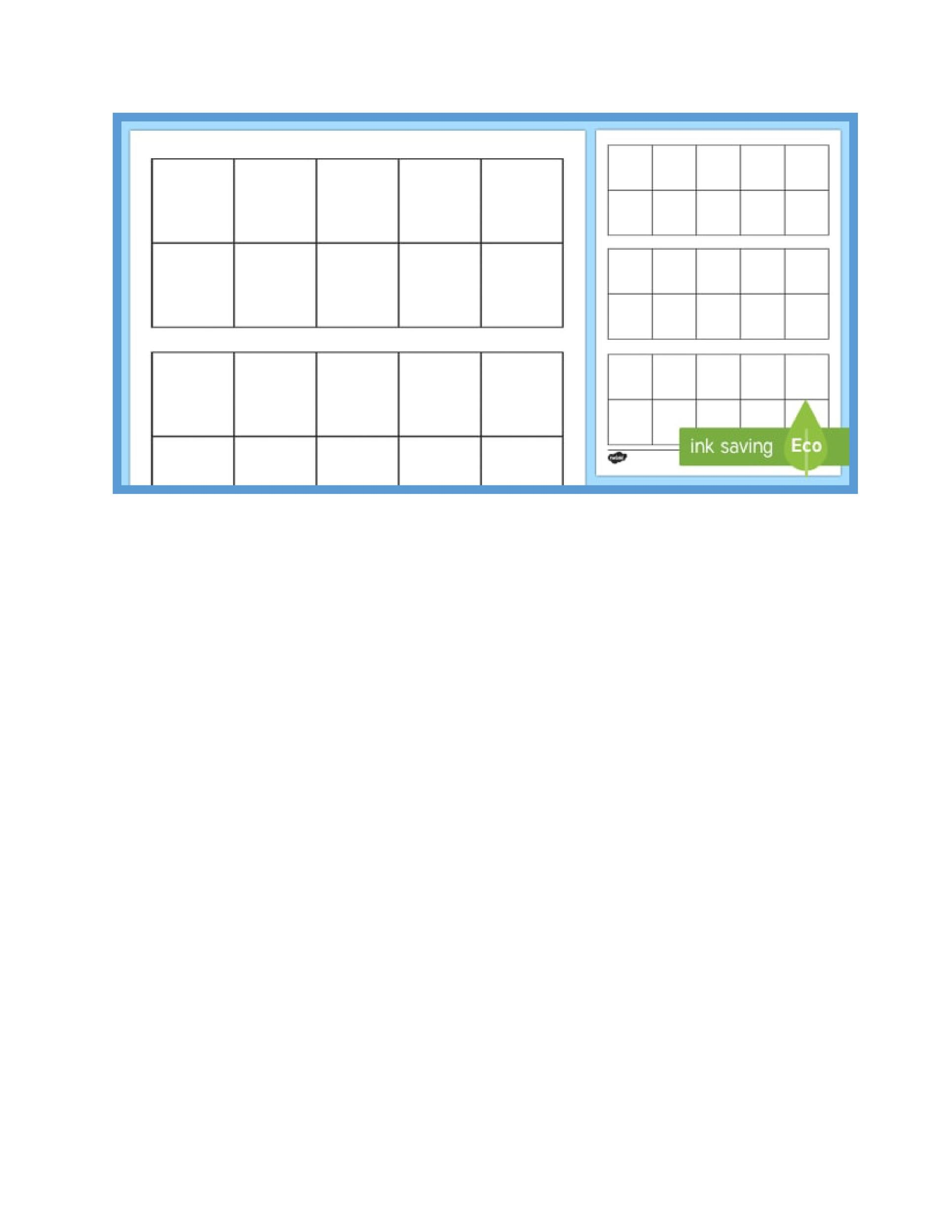 Free Ten Frame Template 23