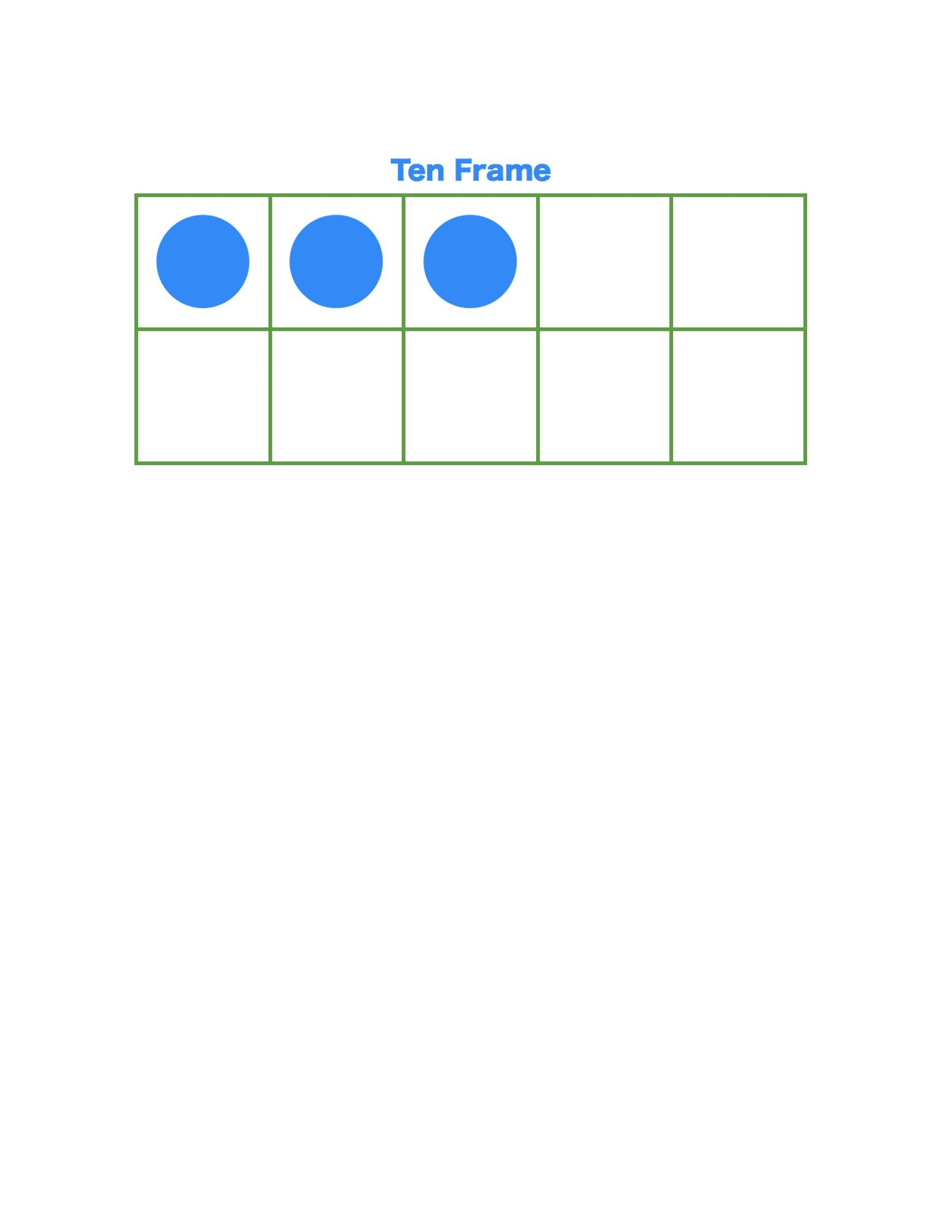 Free Ten Frame Template 27