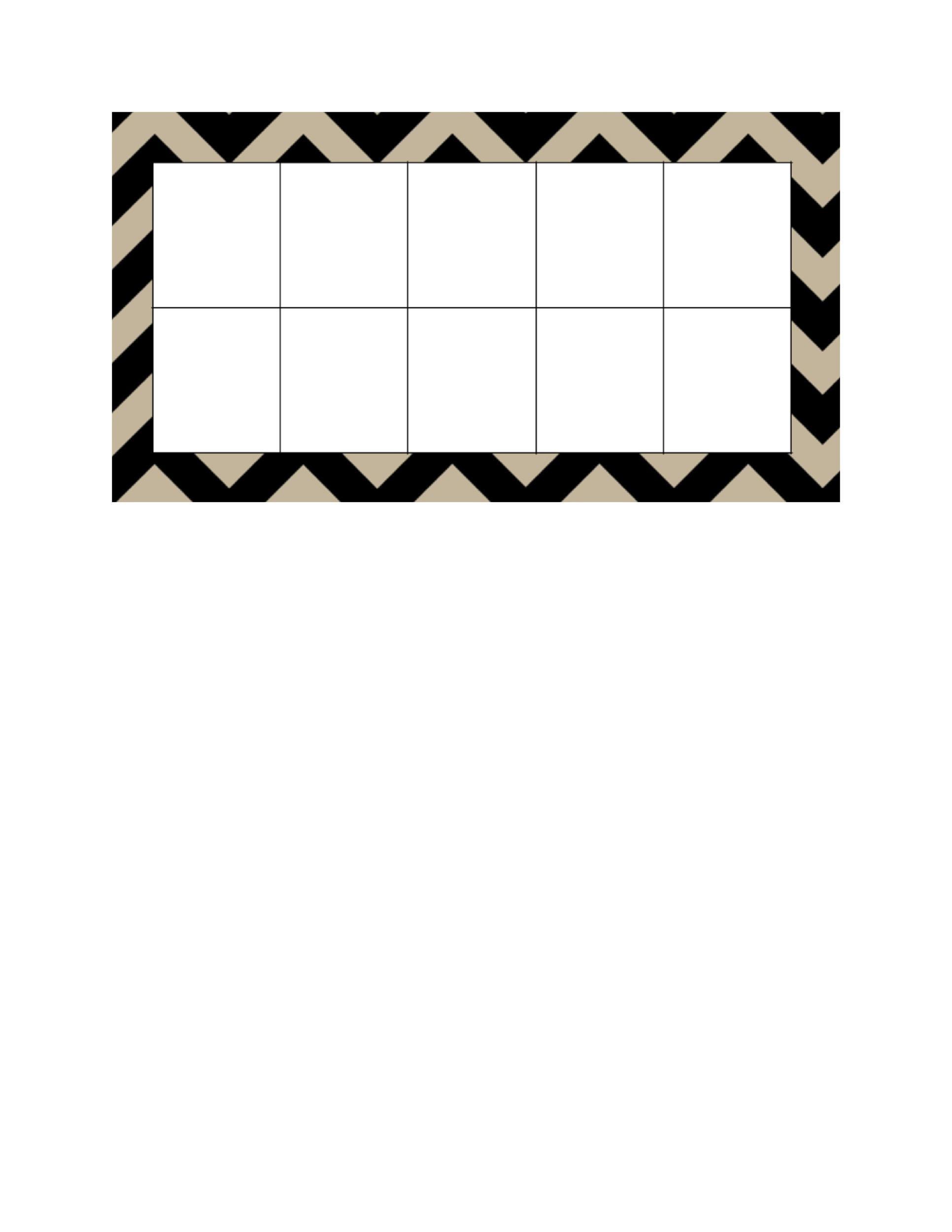 Free Ten Frame Template 33