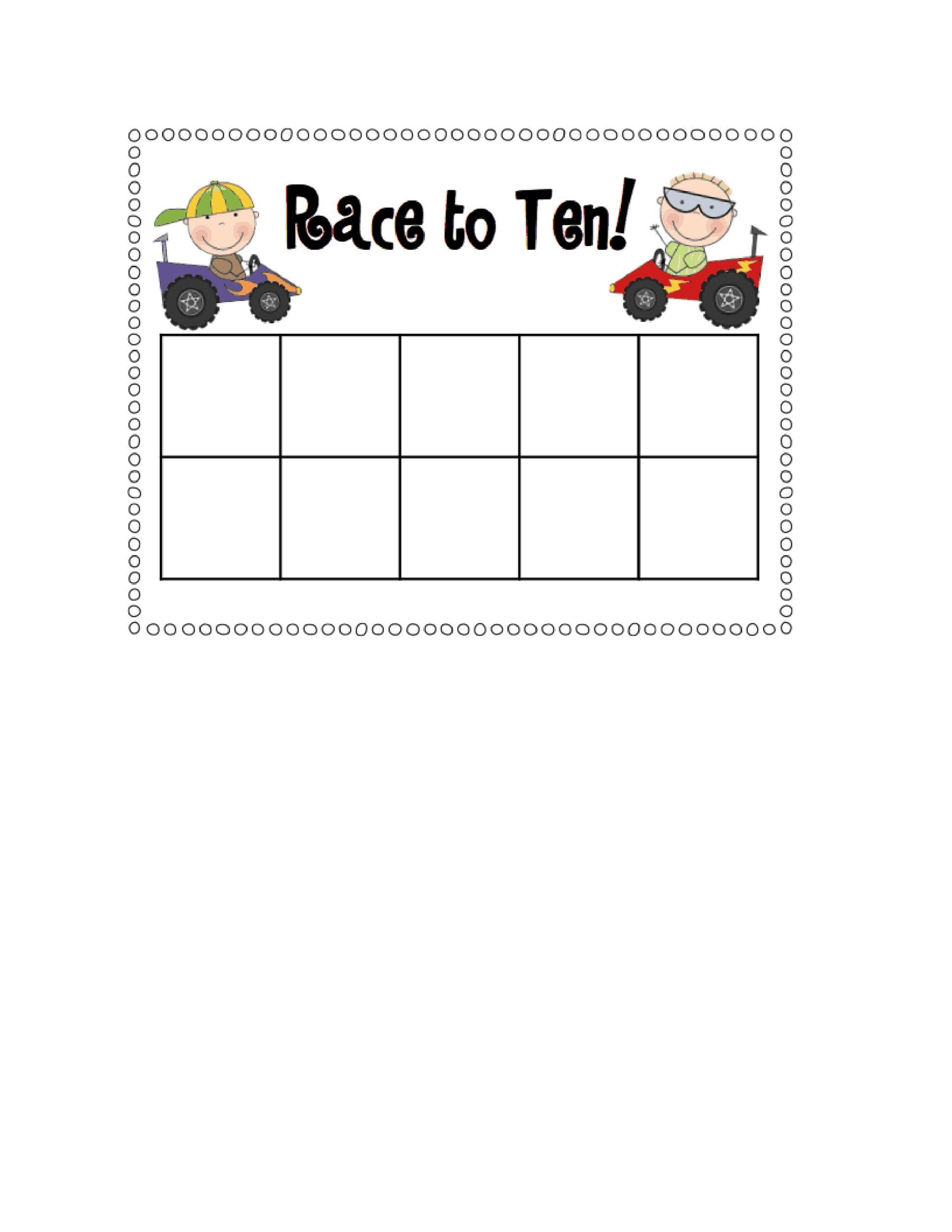 Free Ten Frame Template 35