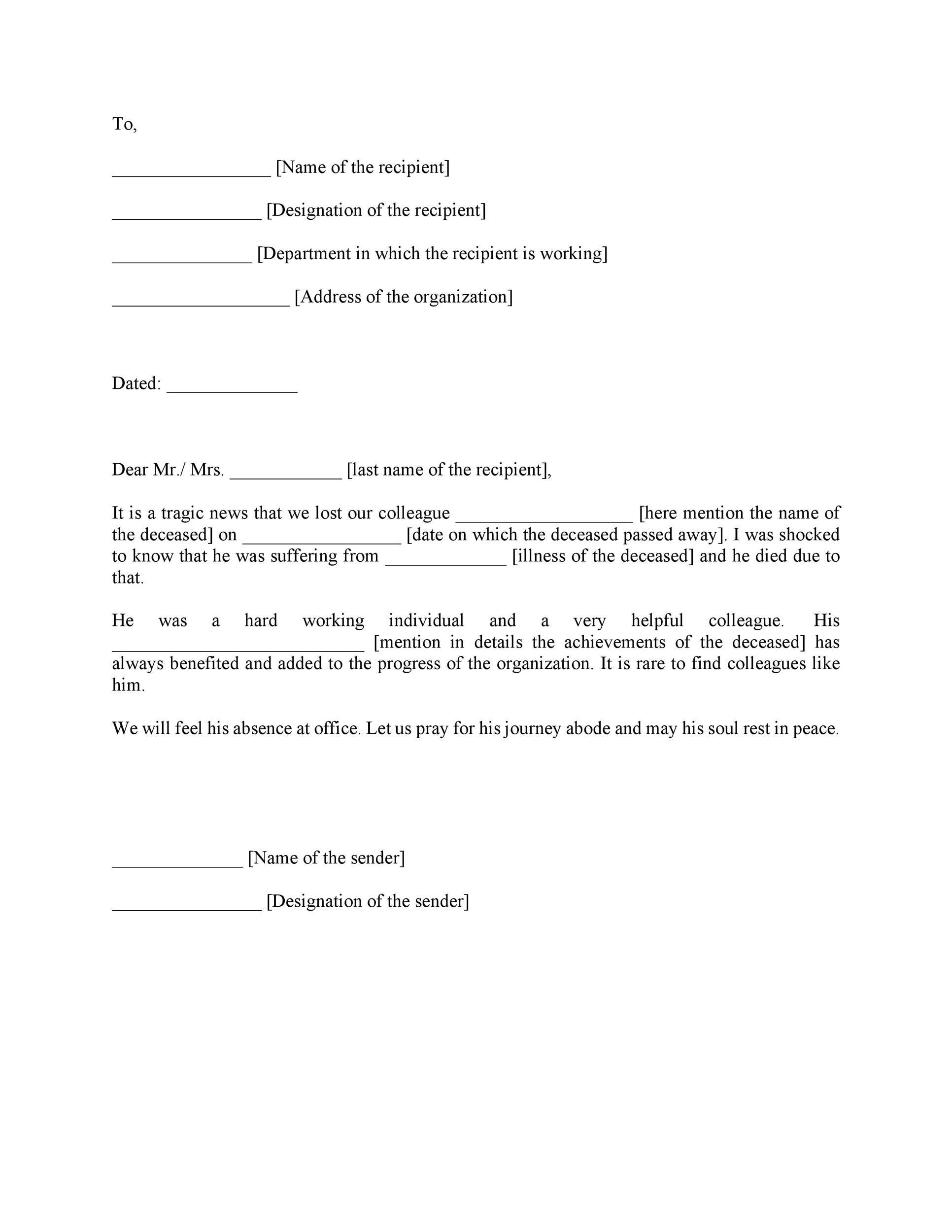 Free condolence letter 05