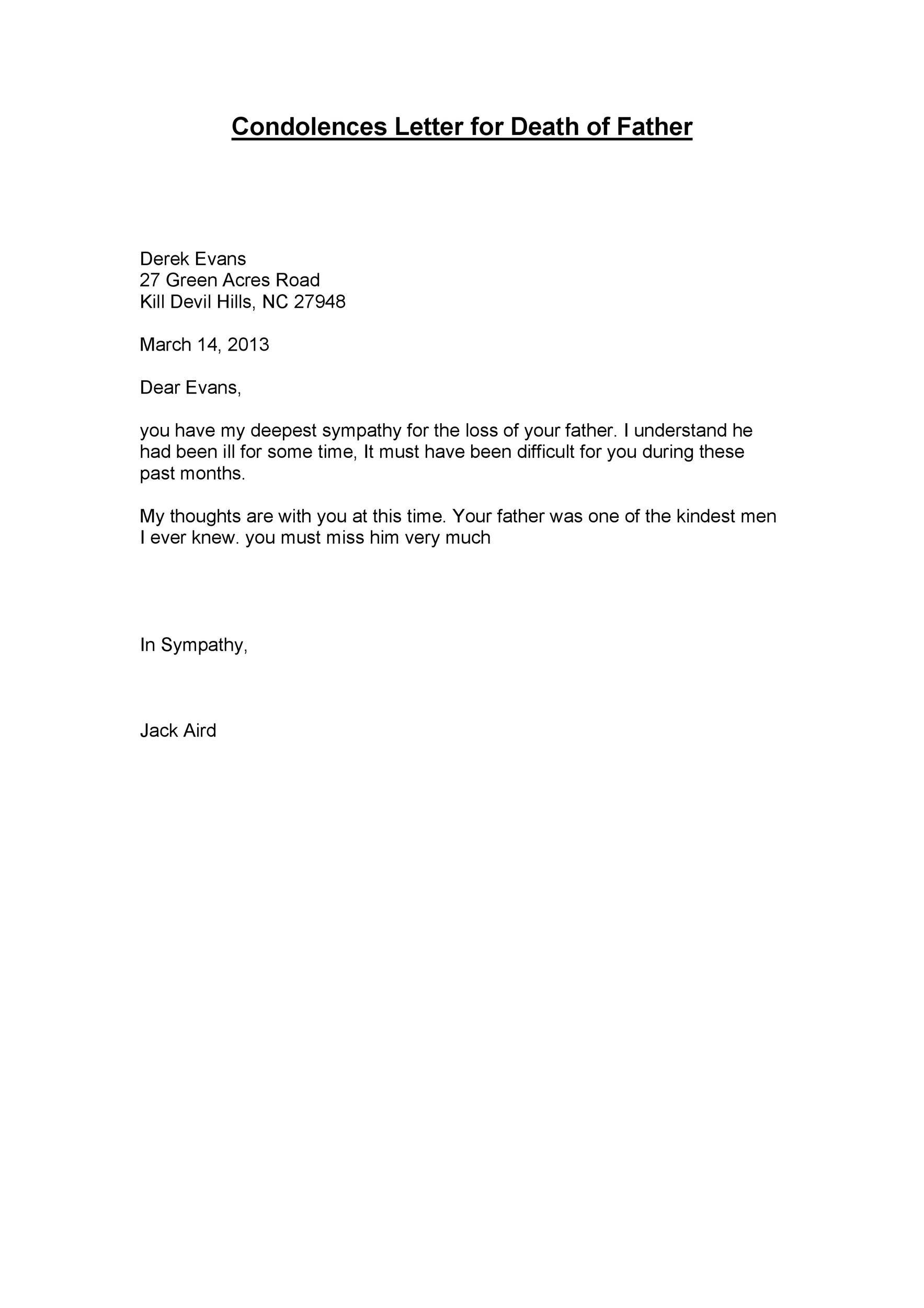 41 Condolence & Sympathy Letter Samples ᐅ TemplateLab