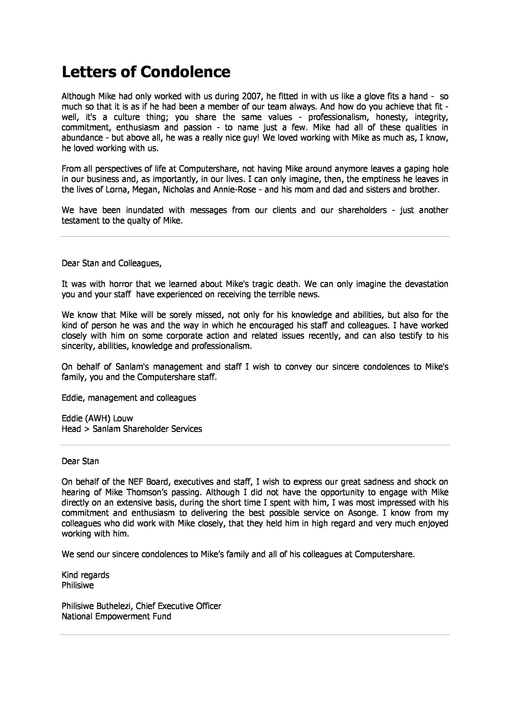 Free condolence letter 33