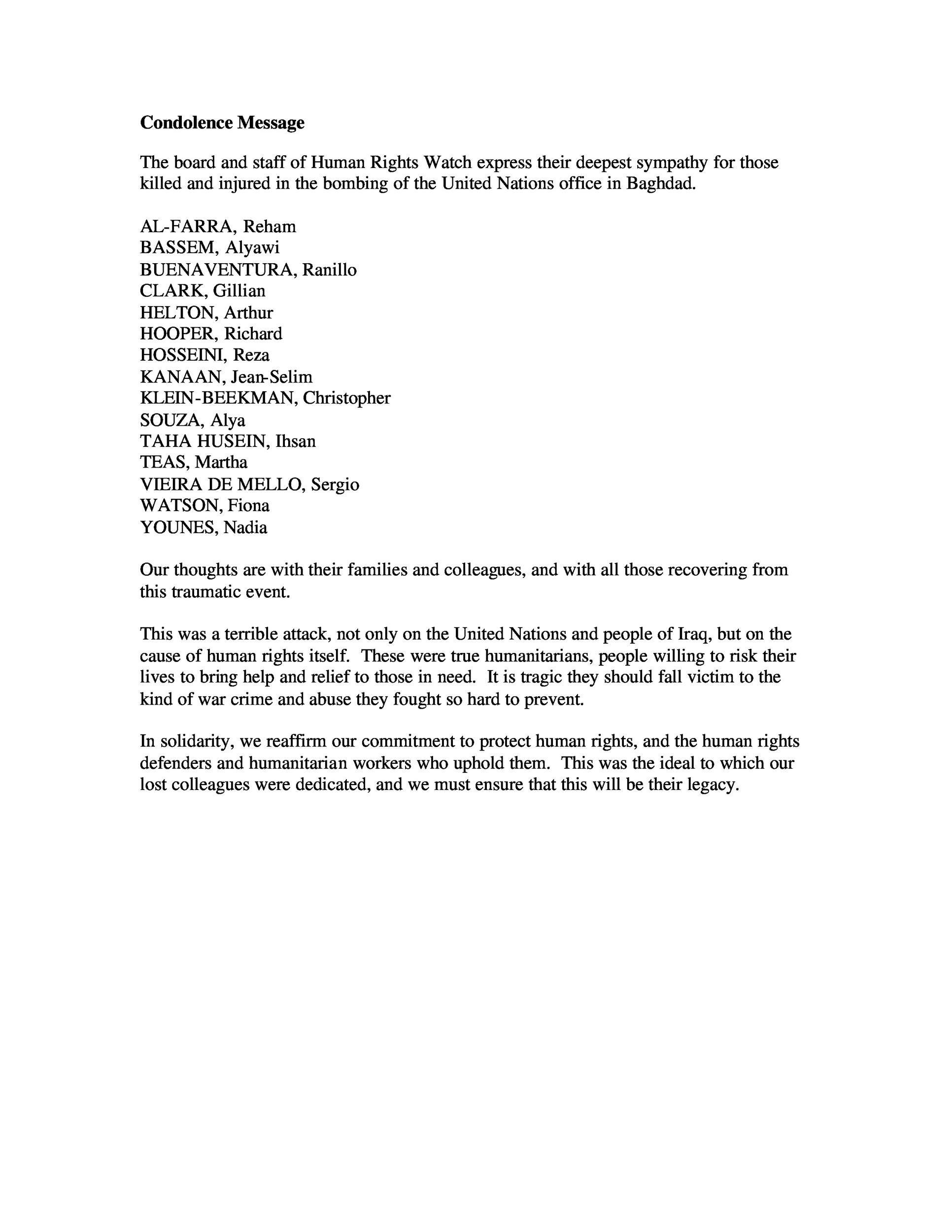 Free condolence letter 35