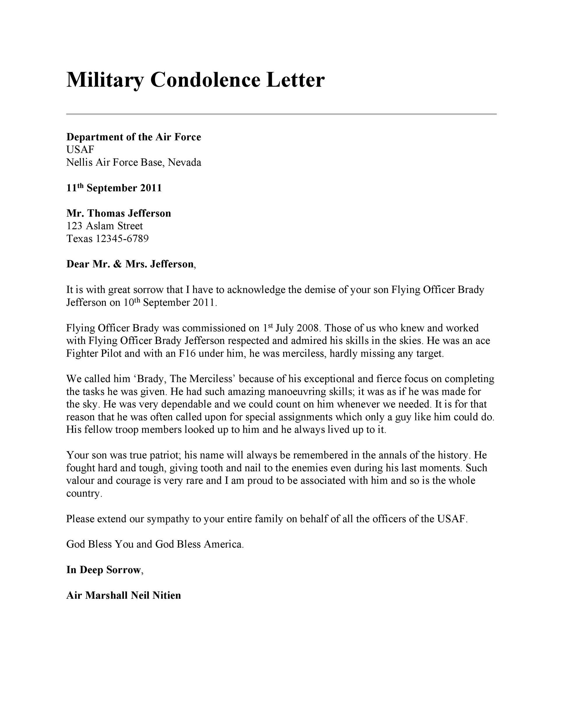 Free condolence letter 39