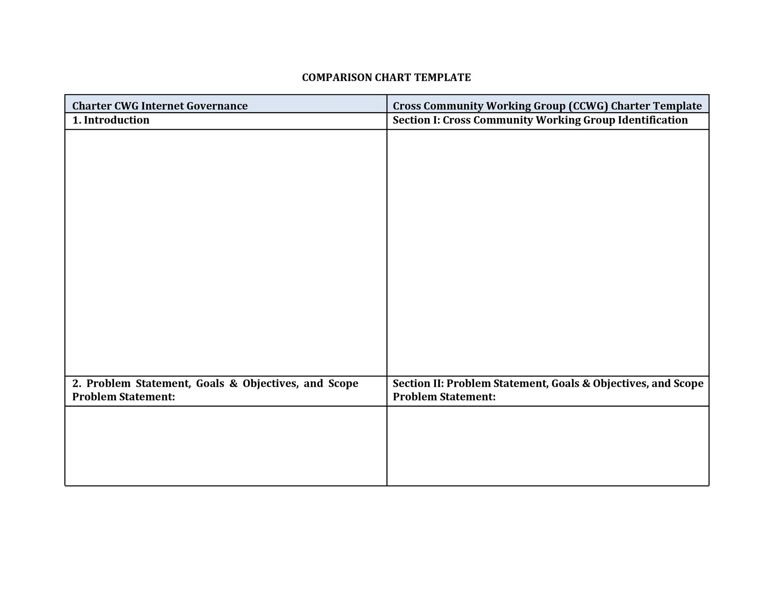 40 great comparison chart templates for any situation template lab